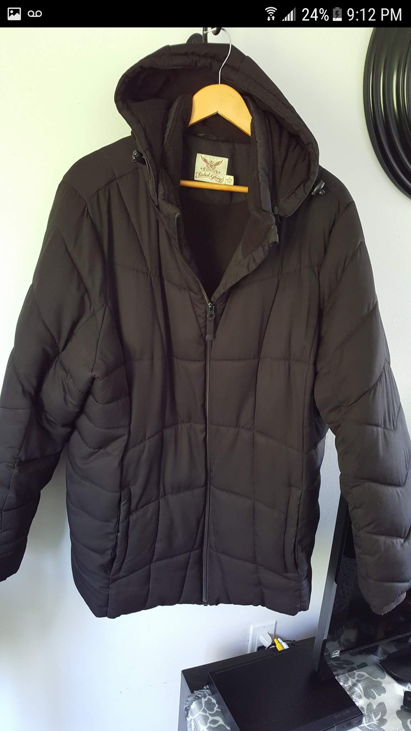 Size 3x Winter Woman's Coat $40.00 Brand is Faded Glory