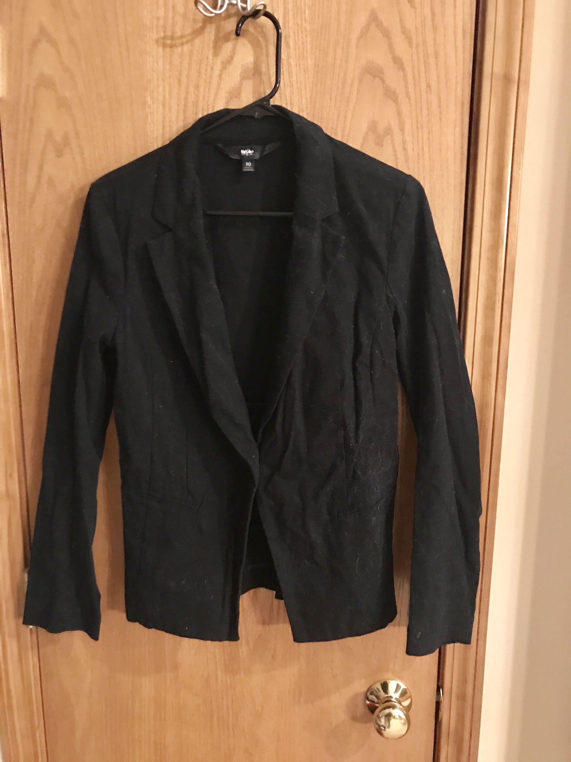 Mossimo brand, black blazer, women's size 10