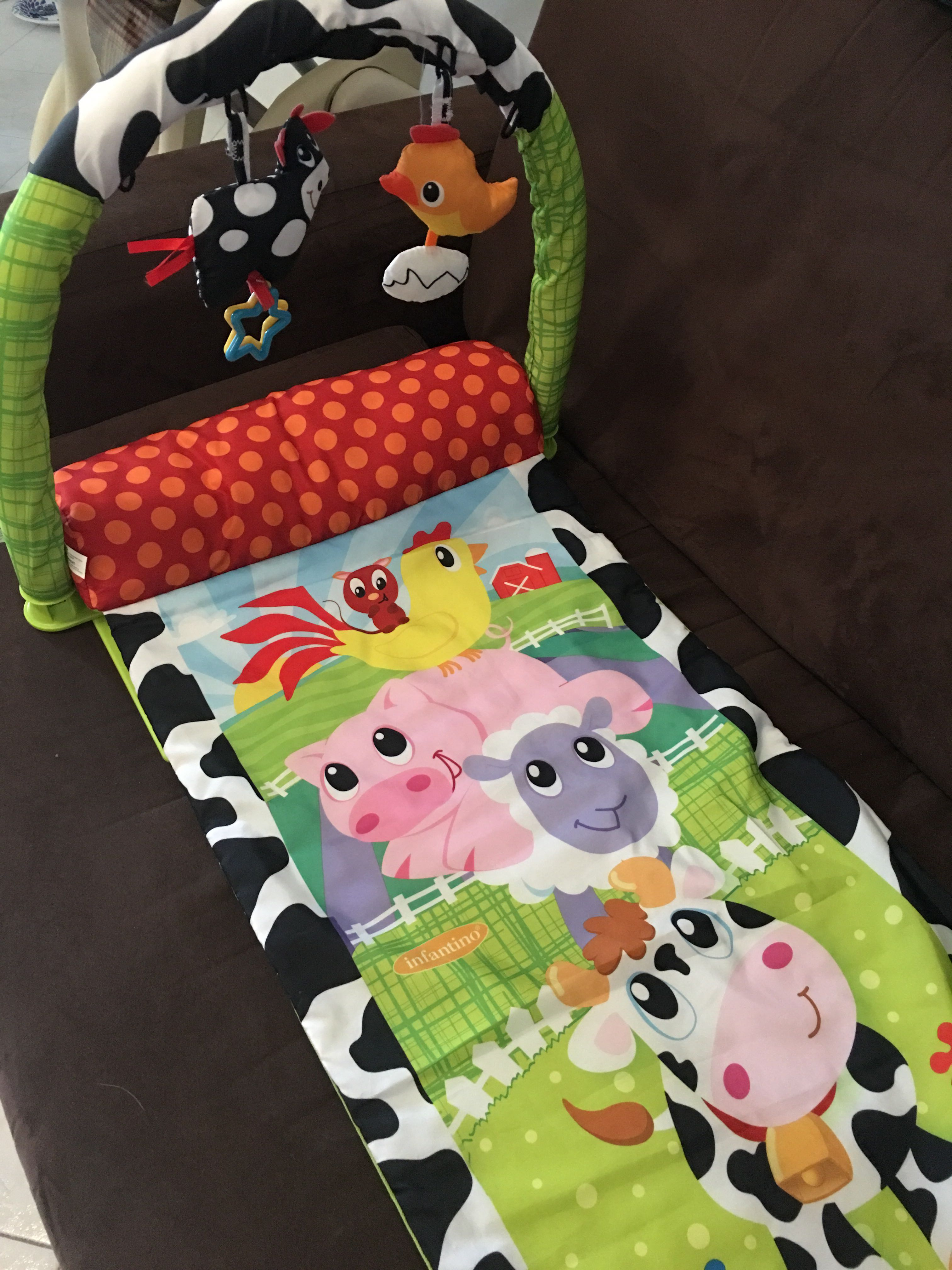 Infantino travel activity mat w/ free walker.