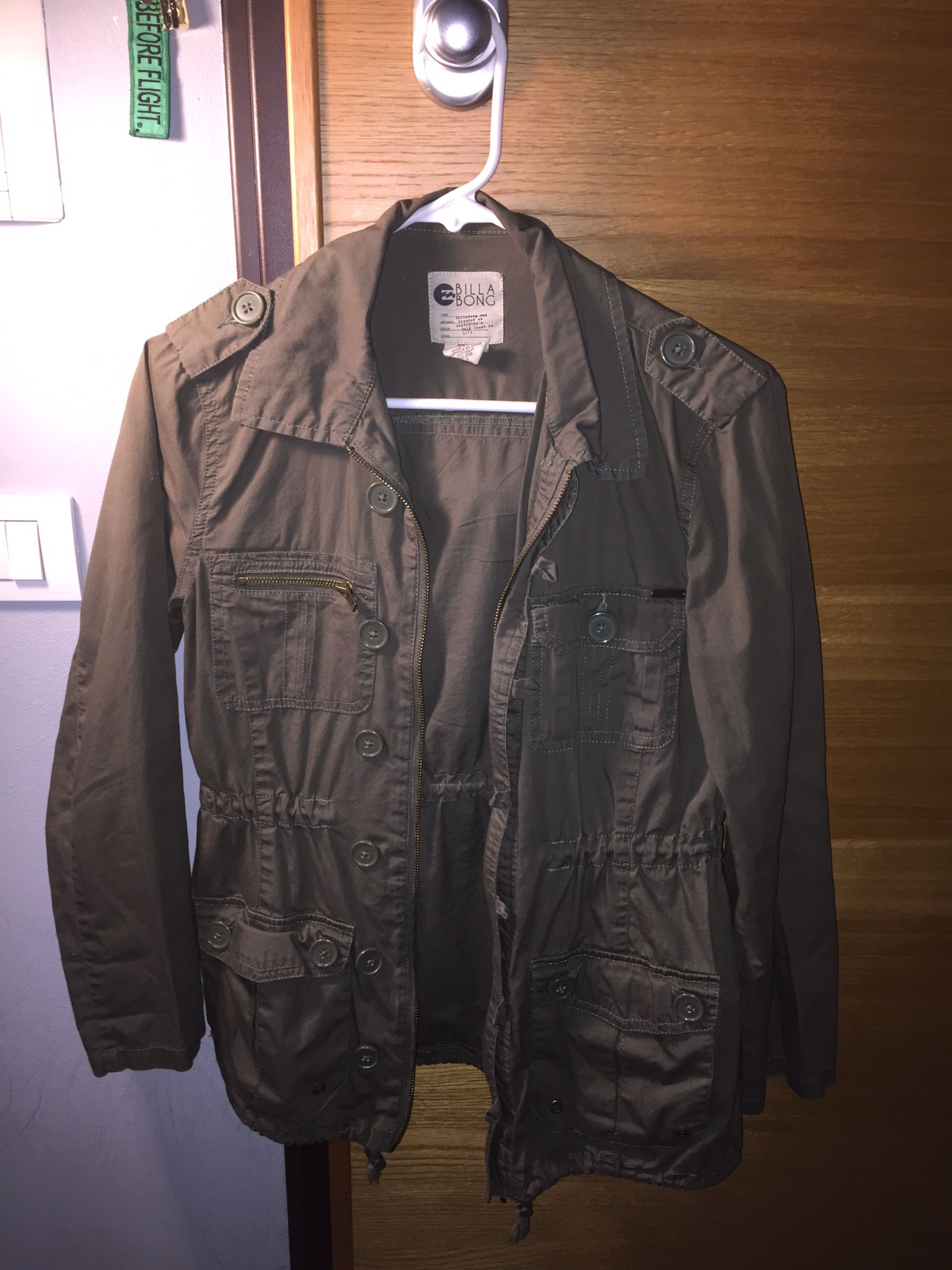 Light weight Billabong Olive Green Jacket