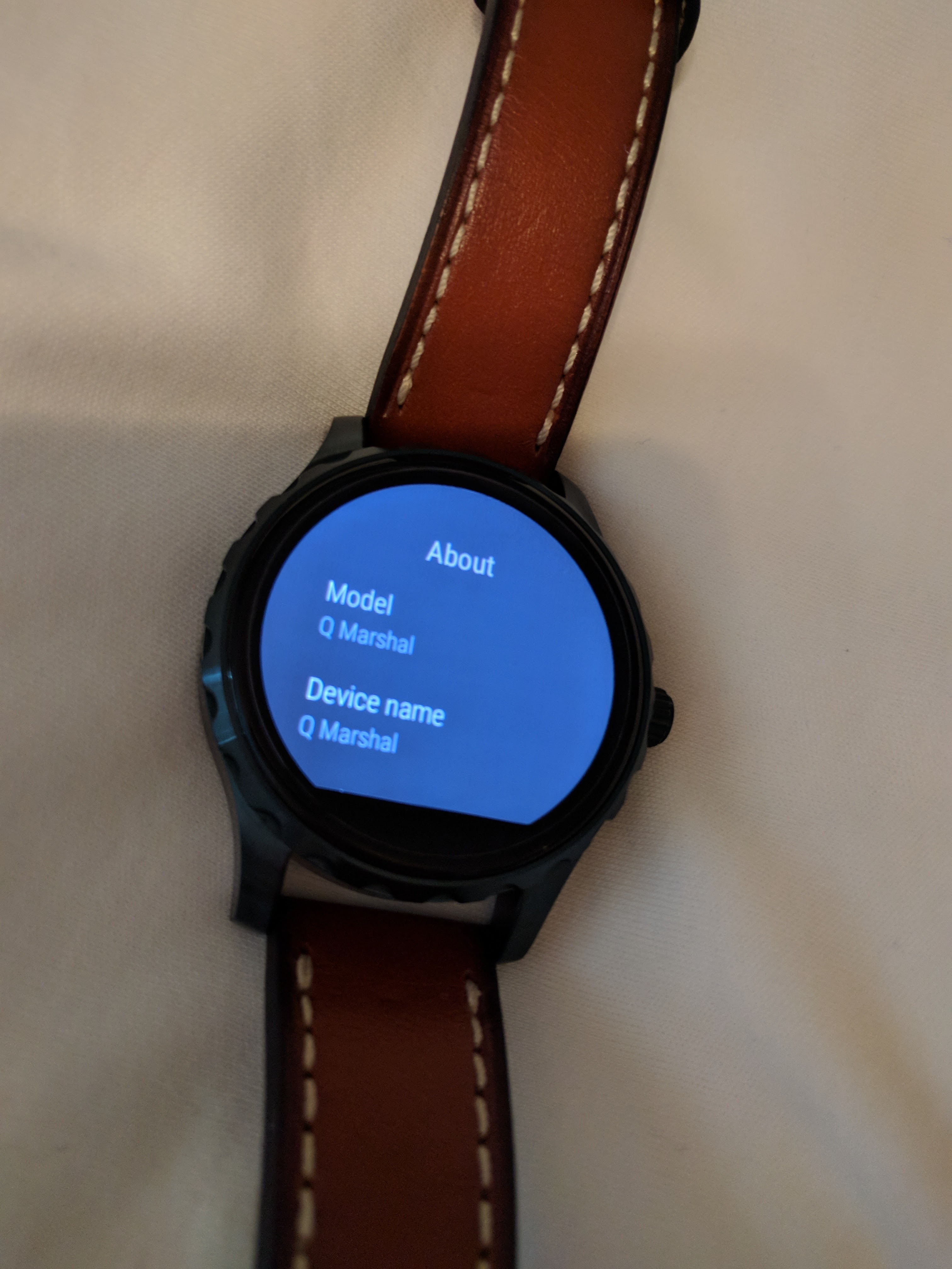 Fossil Q Wander (Smart Watch) Mint Condition: Blue watch and Brown leather Fossil Q Wander (Smart Watch) Android Wear 2.0