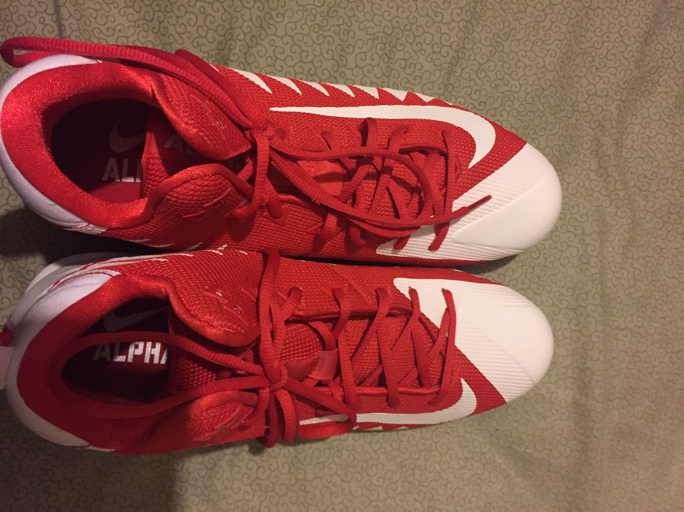 Sz 13 cleats. Never worn