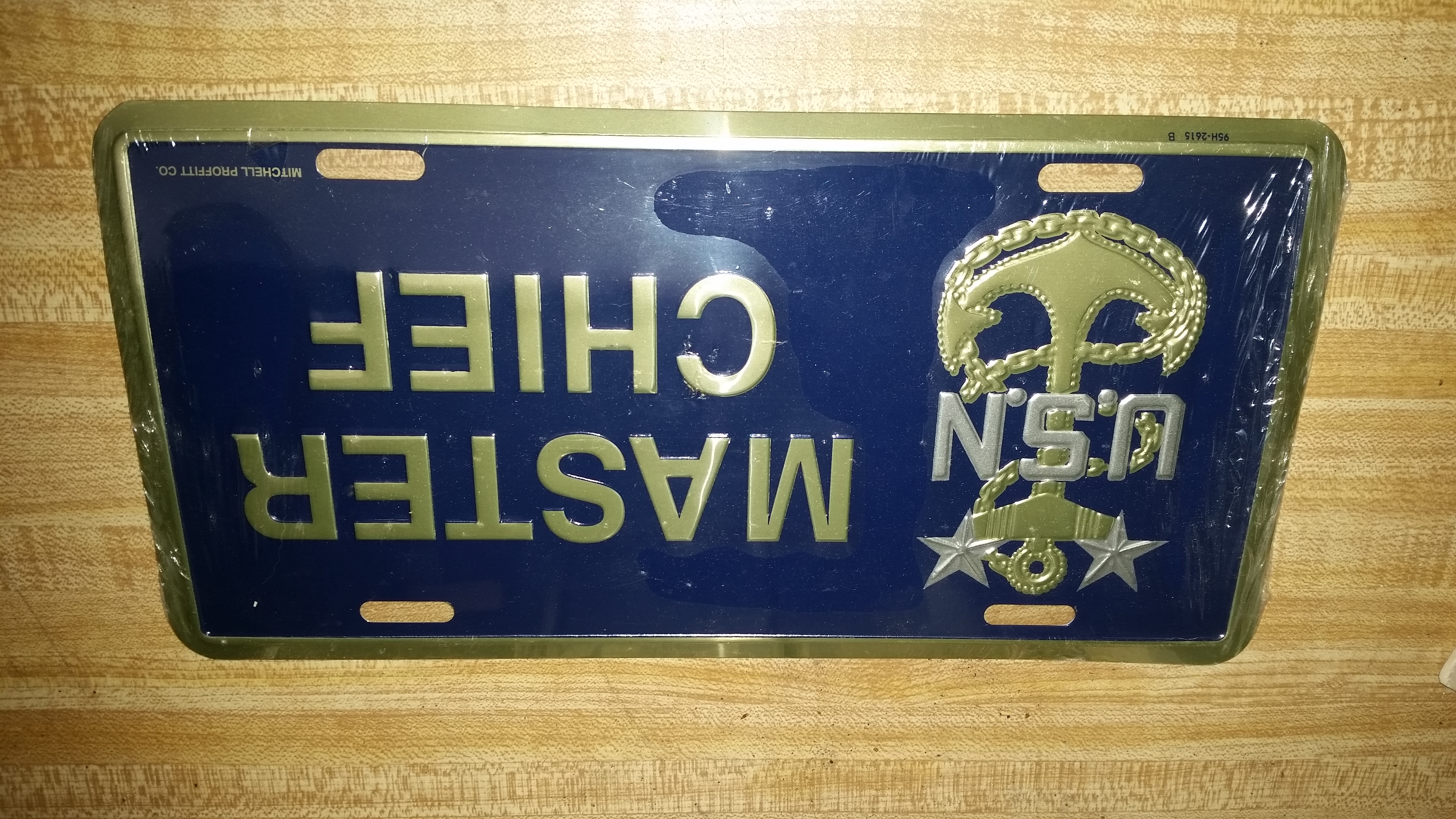 USN Master Chief Licence Plate