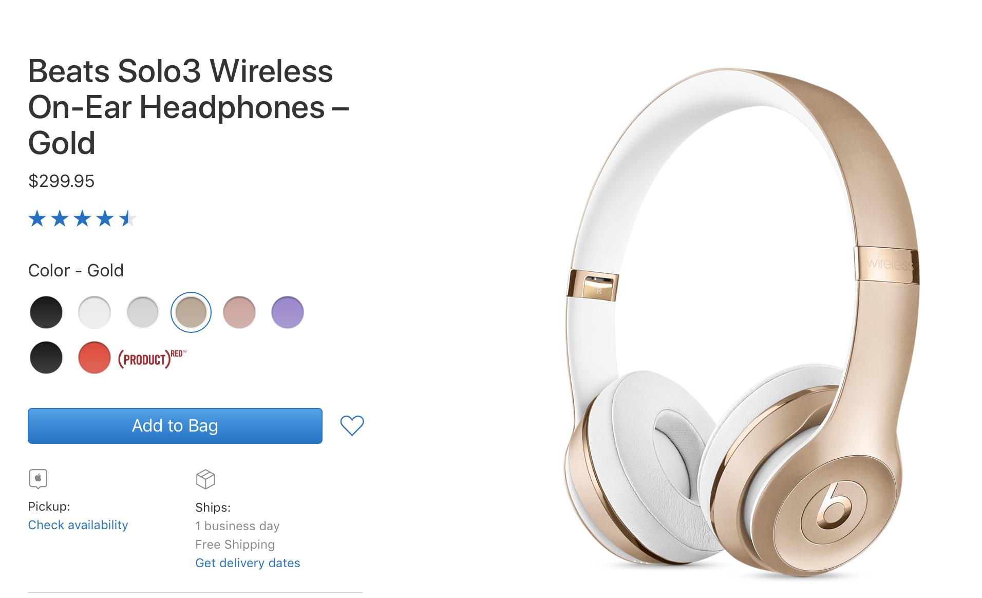 Unopened Beats Solo3 Wireless headphones