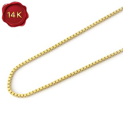 """22"""" 14k solid gold box chain"""