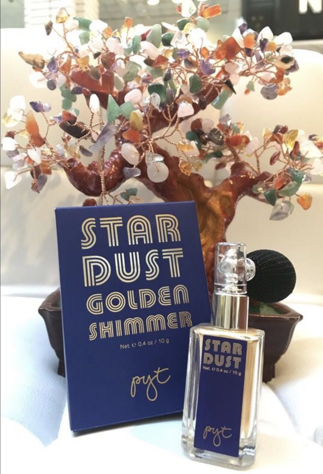 PYT Star Dust Golden Hair & Body Shimmer 0.4oz/10g