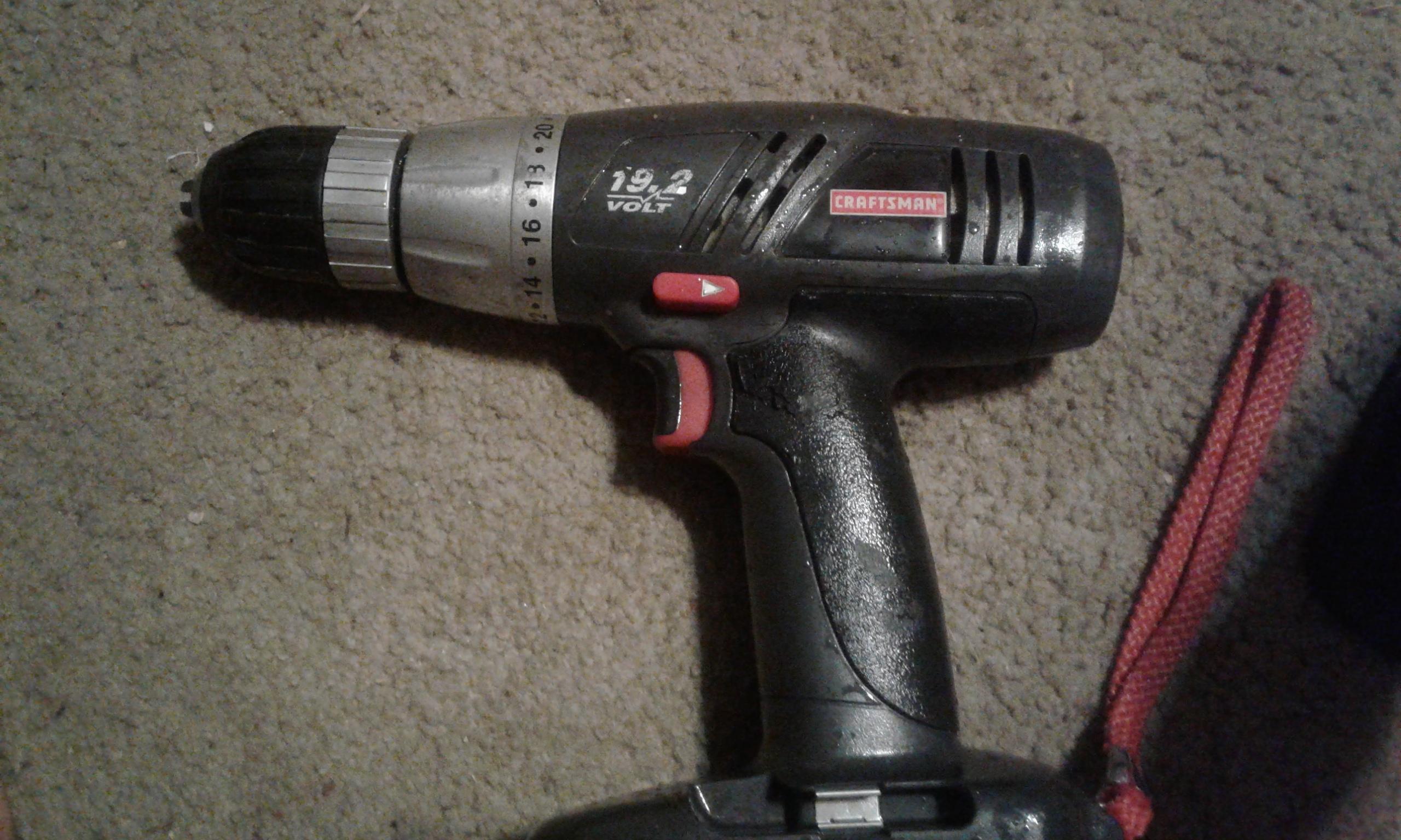 2 Craftsman drill 19.2 volt. No battery