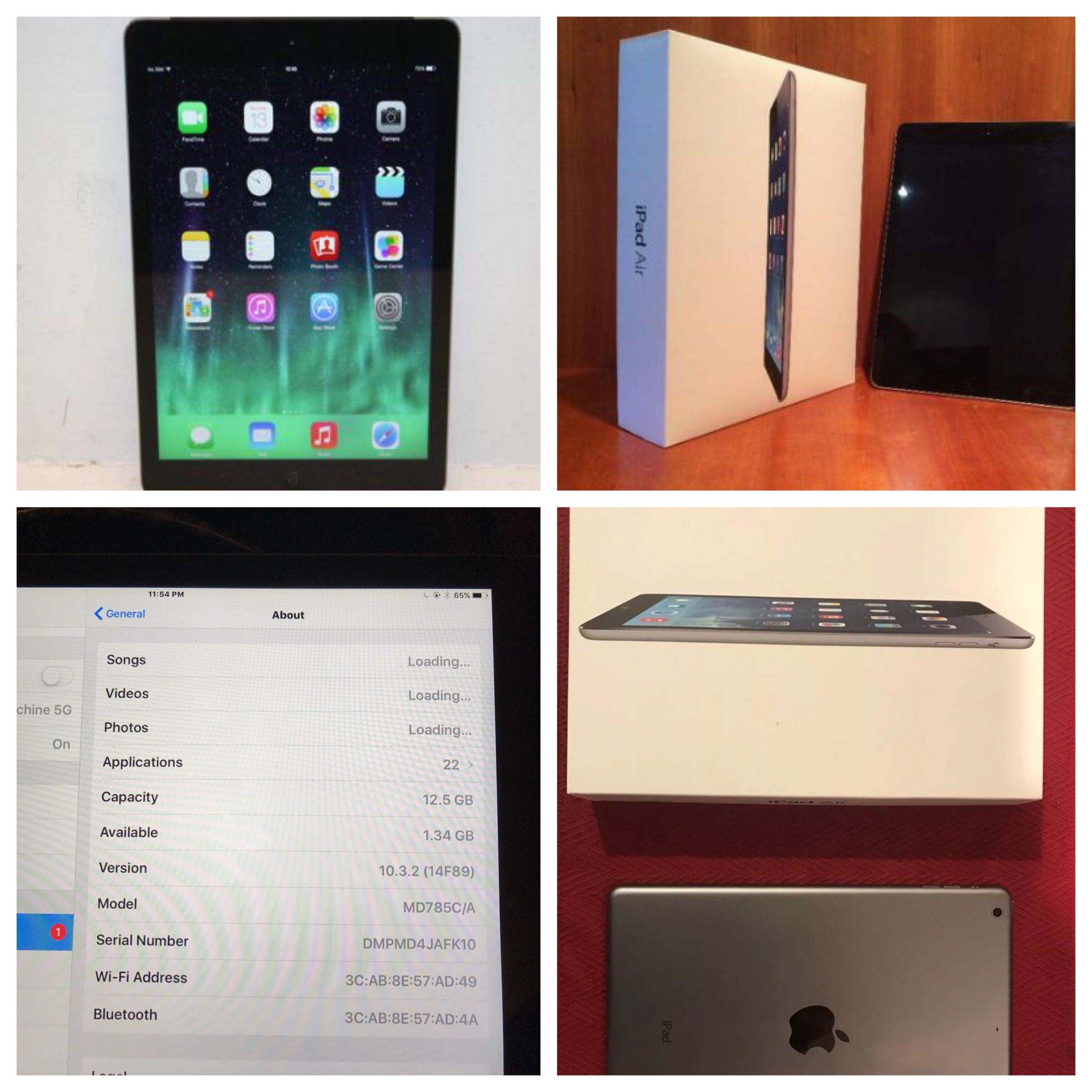Apple Ipad Air 16gb wifi in GREAT confition (tablet)
