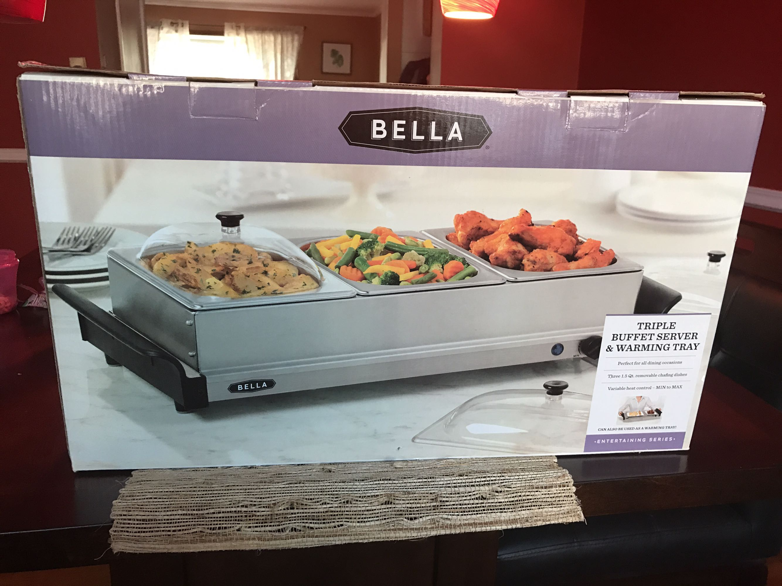 Bella food server and warmer (still in box)