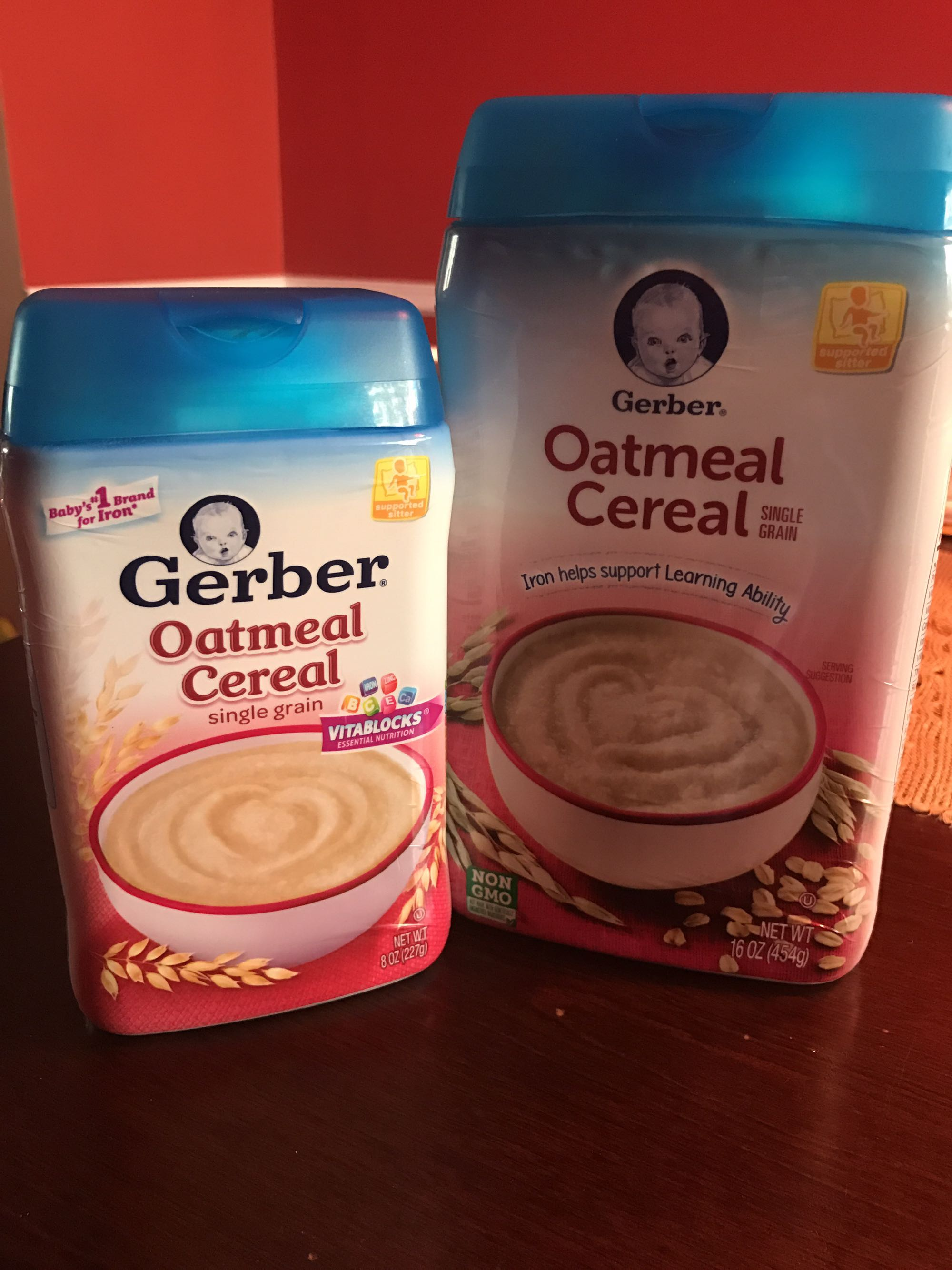 Baby oatmeal cereal never opened.