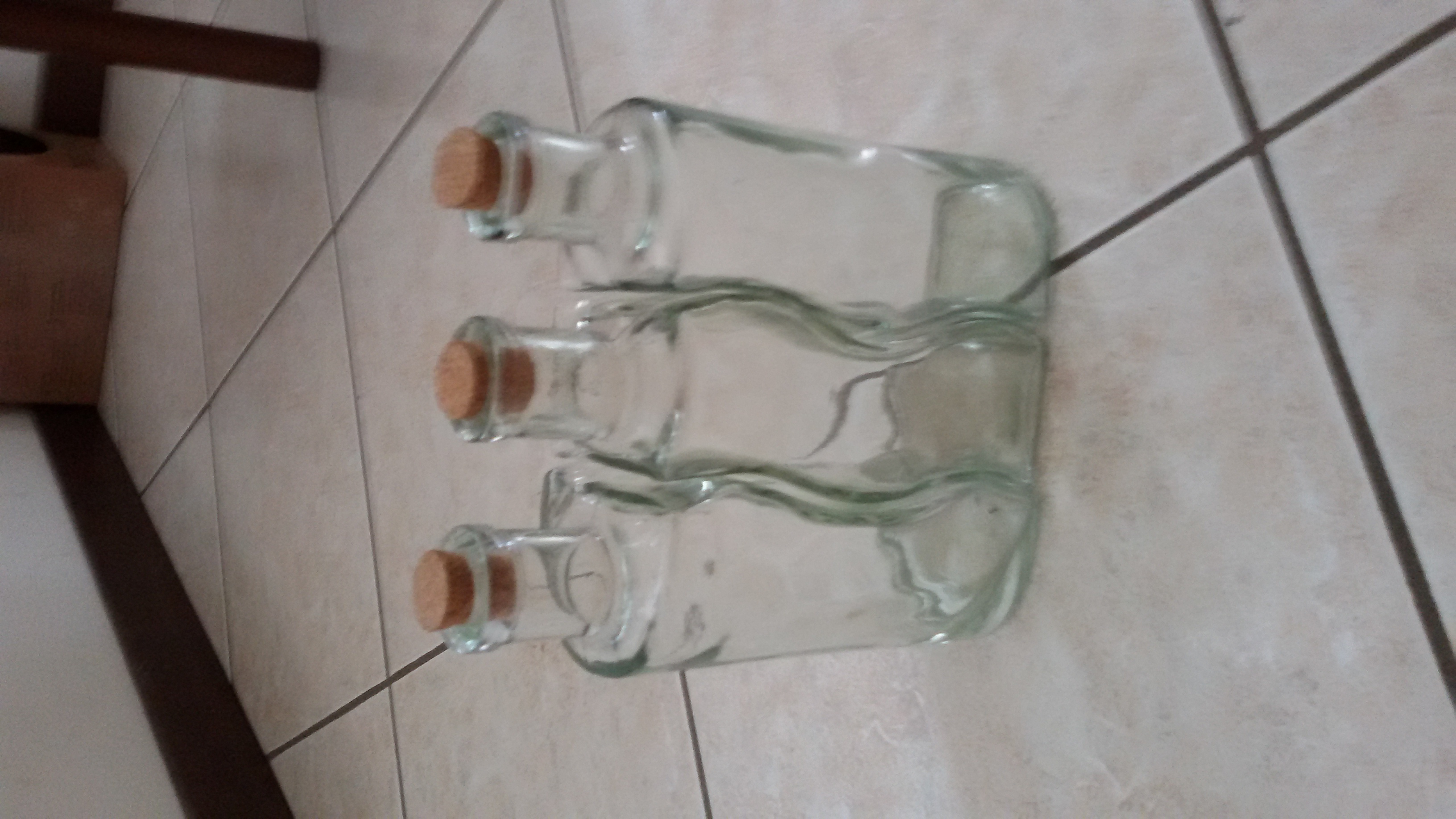 3 Decorative Bottles