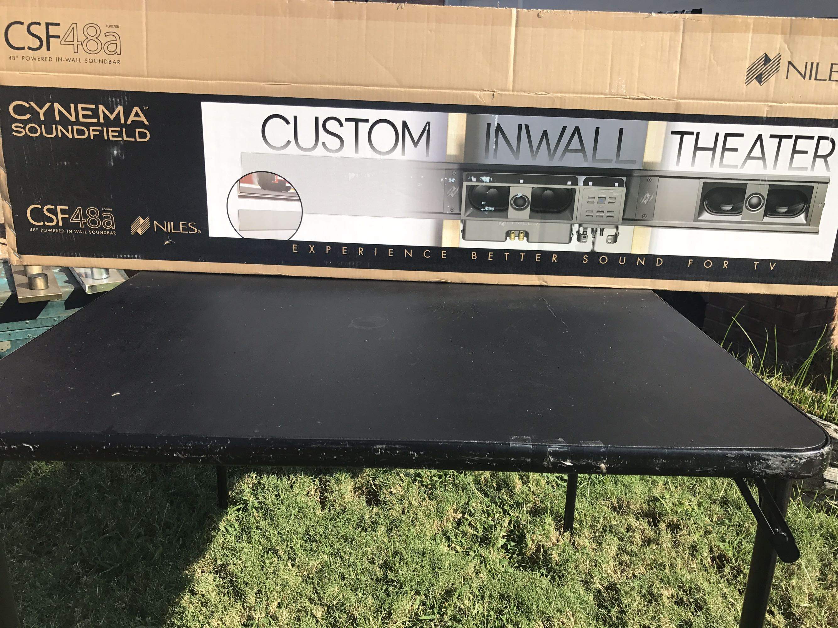 Custom in wall theater *NEW IN BOX*