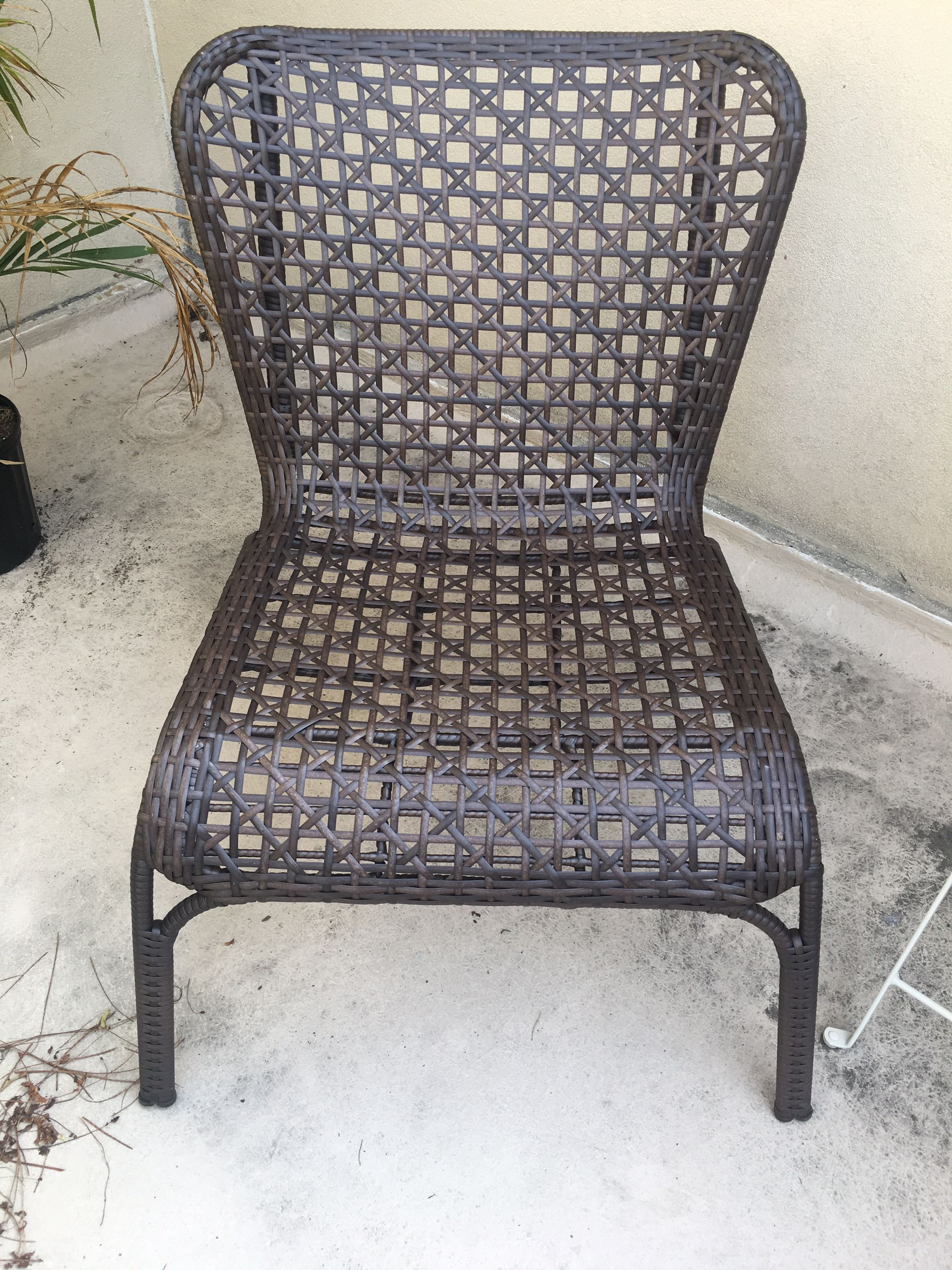 All weather woven chair set
