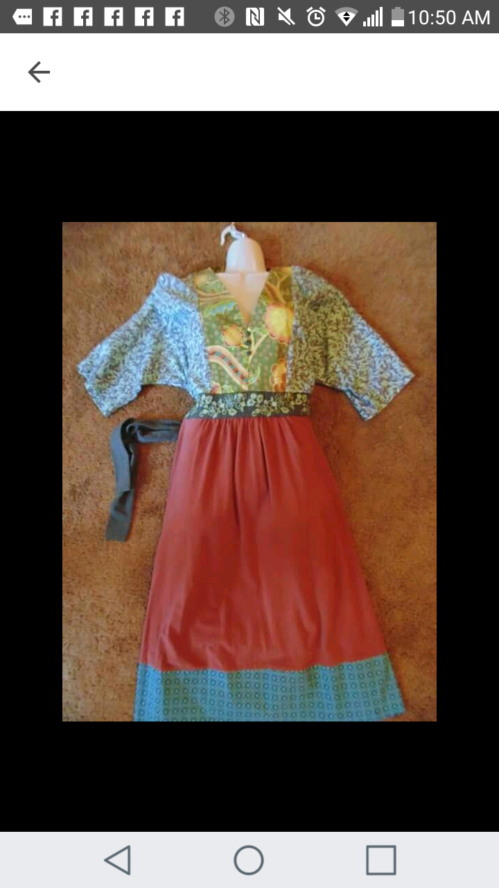 Matilda jane dress. Size large ties on back . great condition