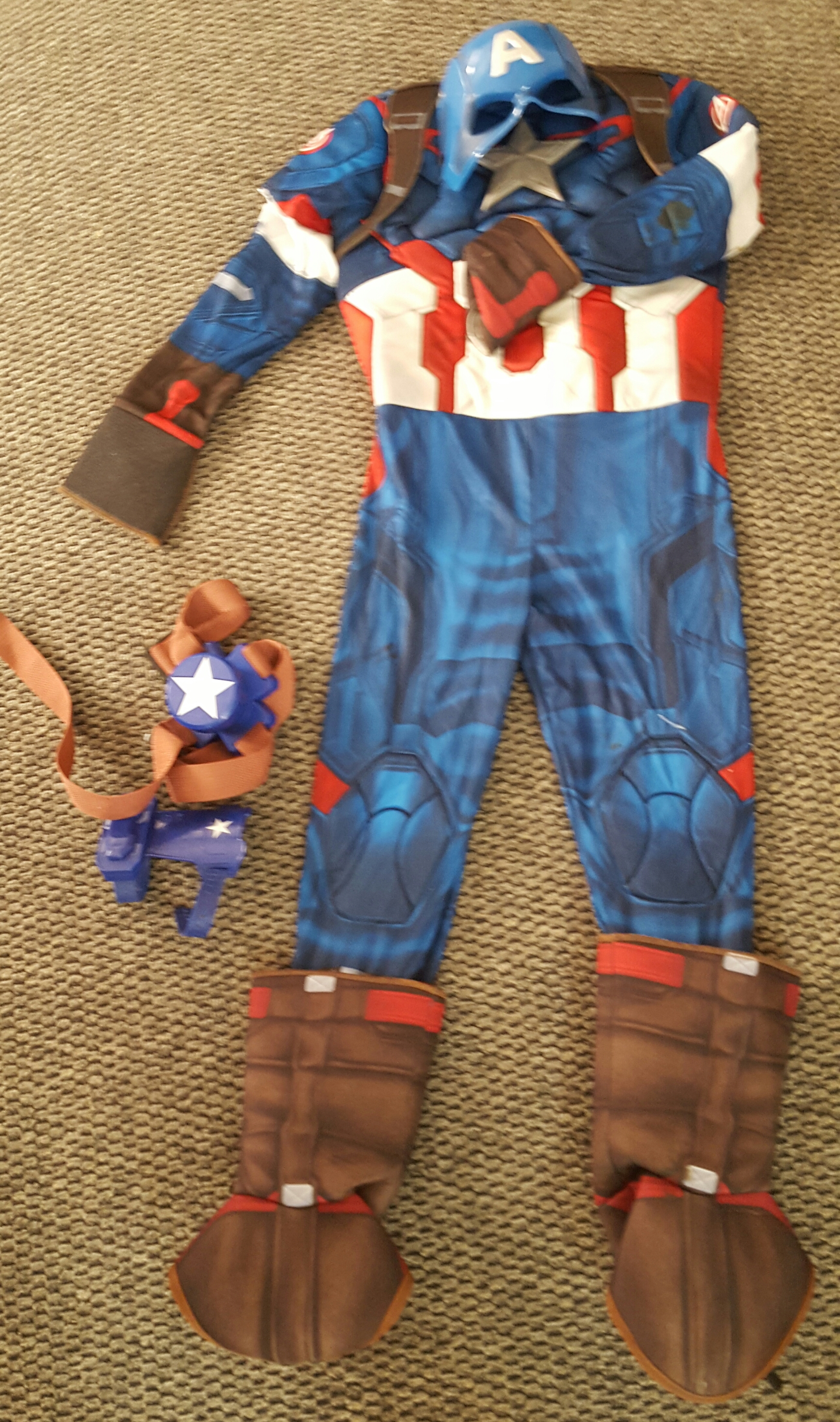 Kids Medium Captain America Jumper with Mask