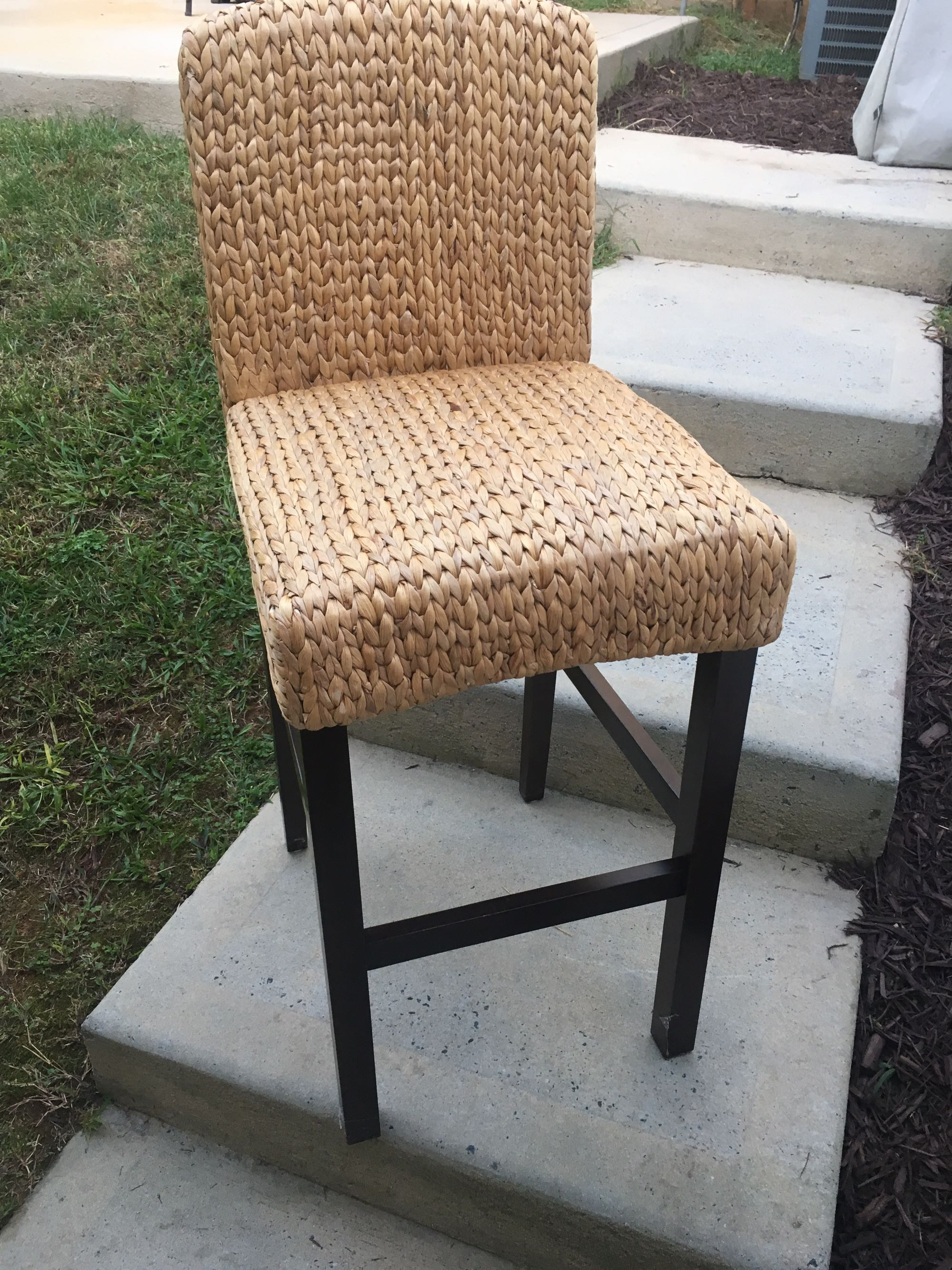 3 Andres seagrass bar stools