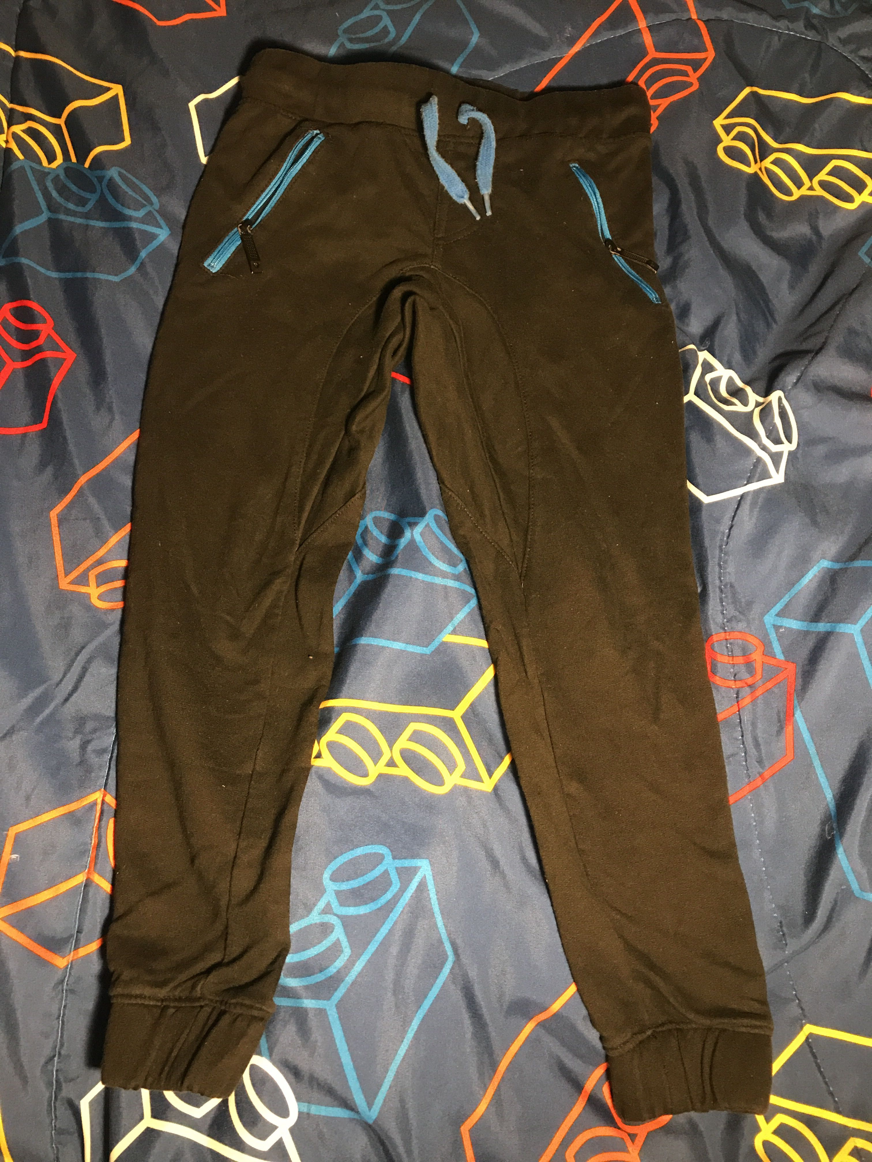 Shawn White black and blue joggers