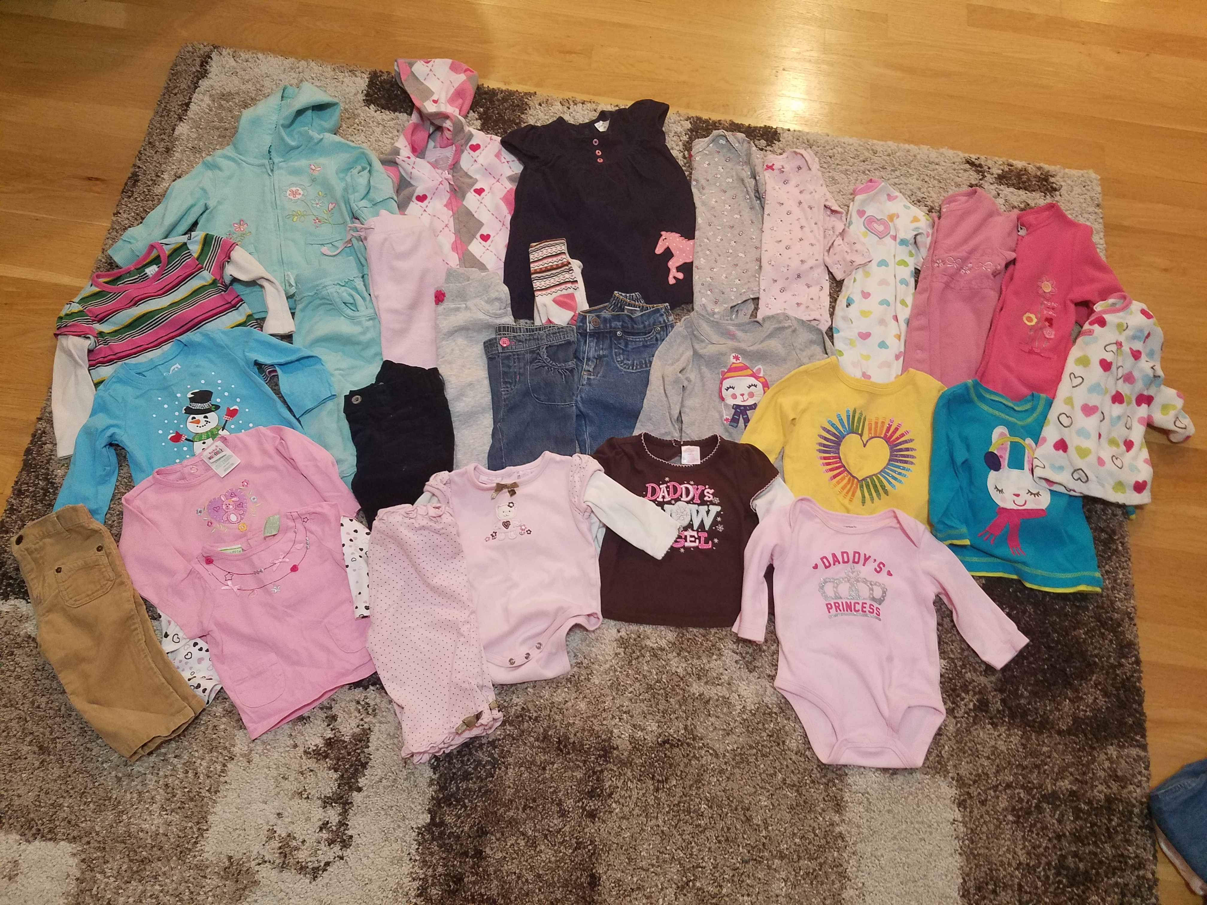 6-9 mos Lot (27 items-no stains)