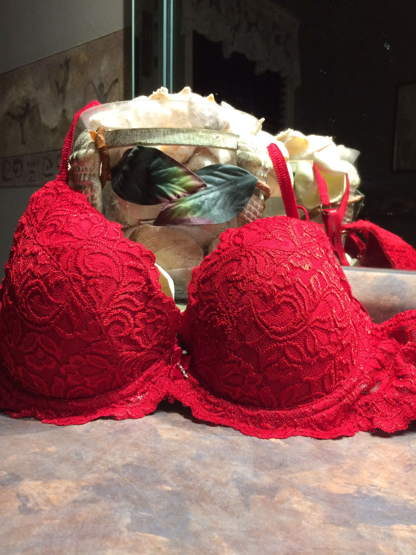 Red Laced Bra Size 34C