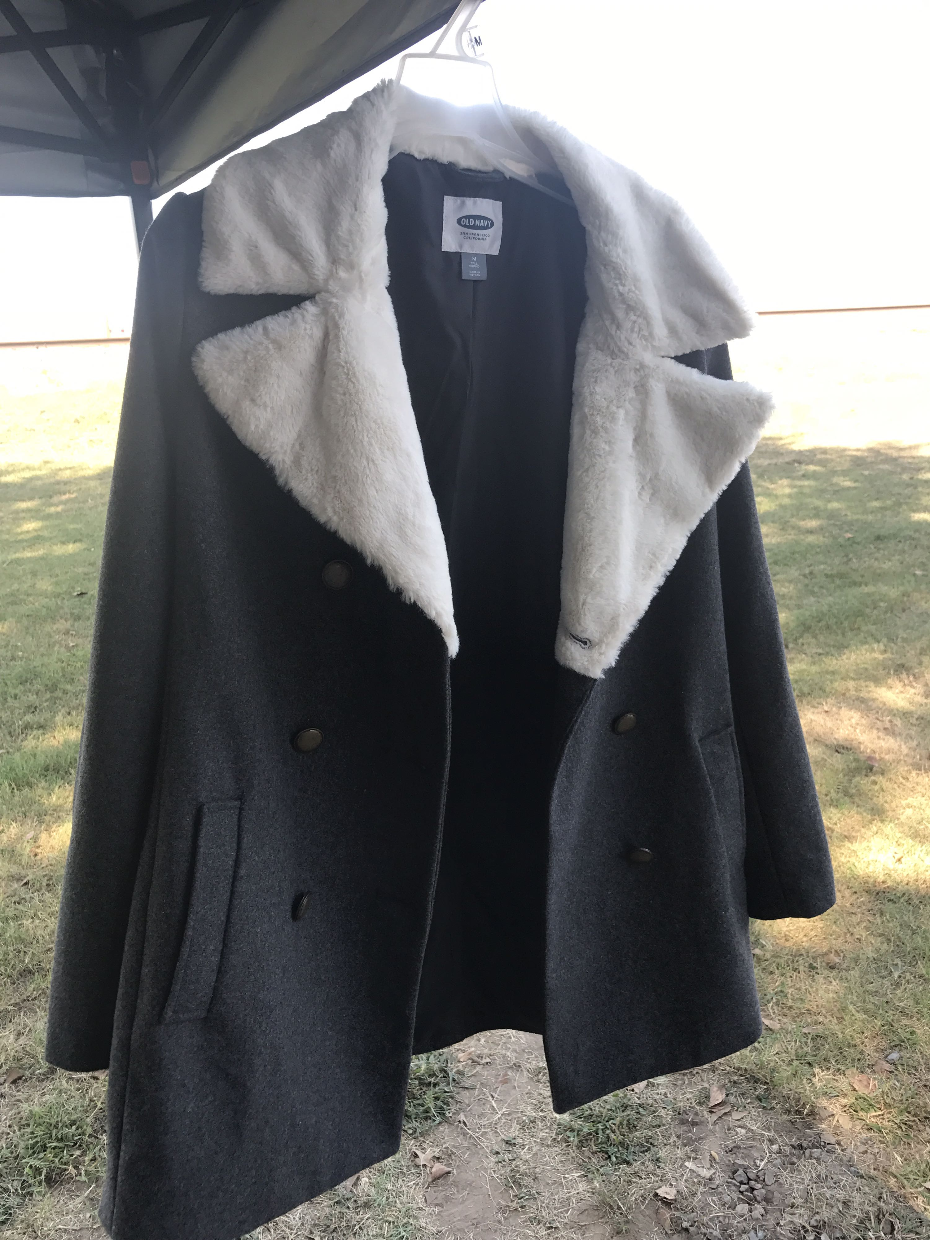New with tags wool/fur coat