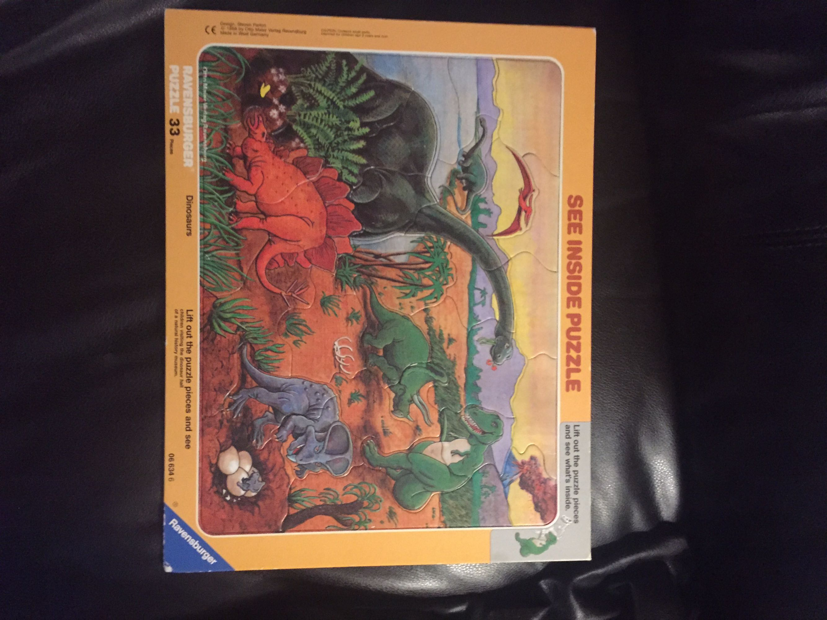 Wood dinosaurs puzzle