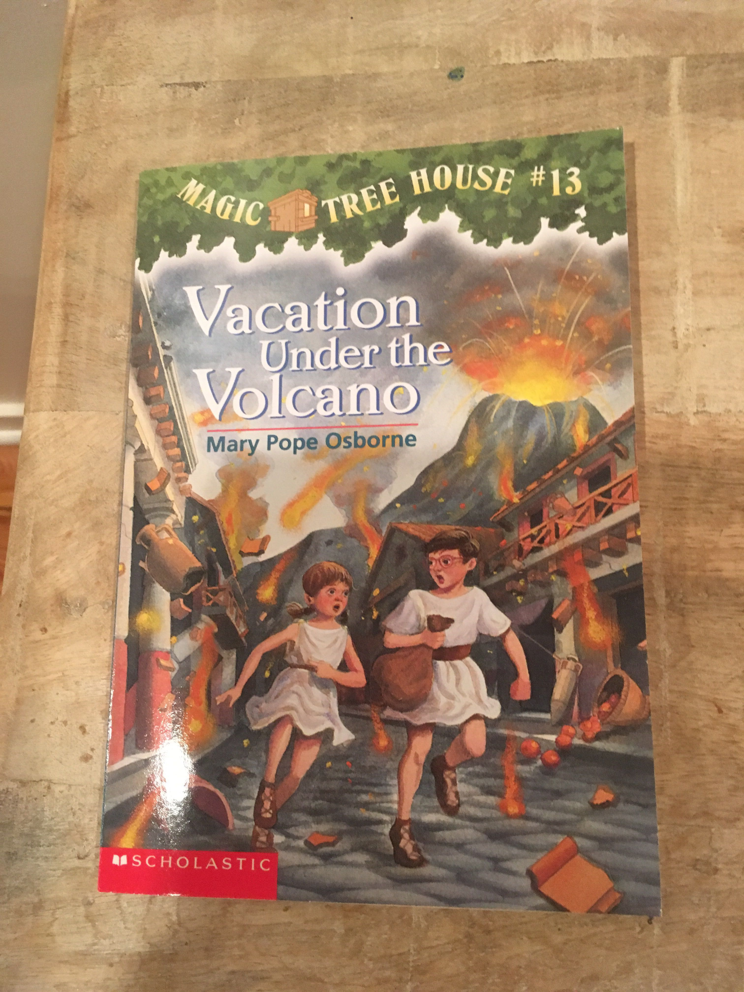 """Magic Tree House #13 - Vacation Under the Volcano"" paperback"