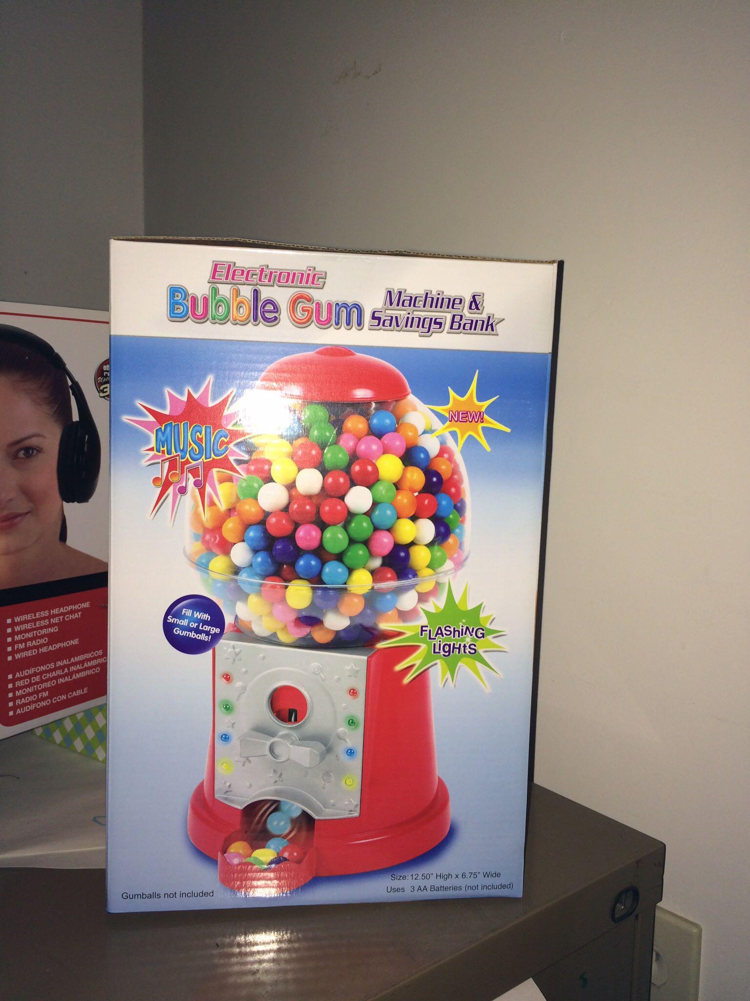 Bubble gum machine/bank