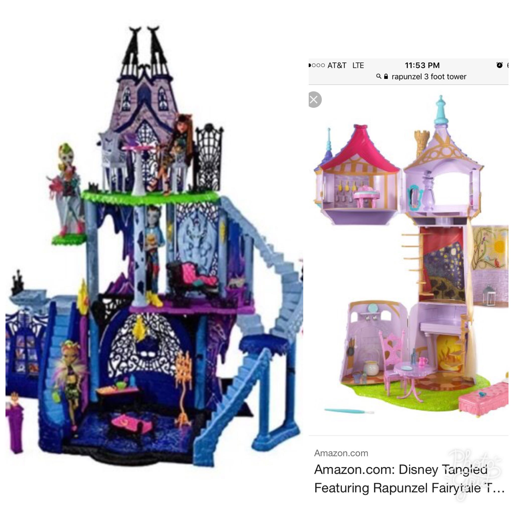 Monster High Catacombs and Rapunzel Tower