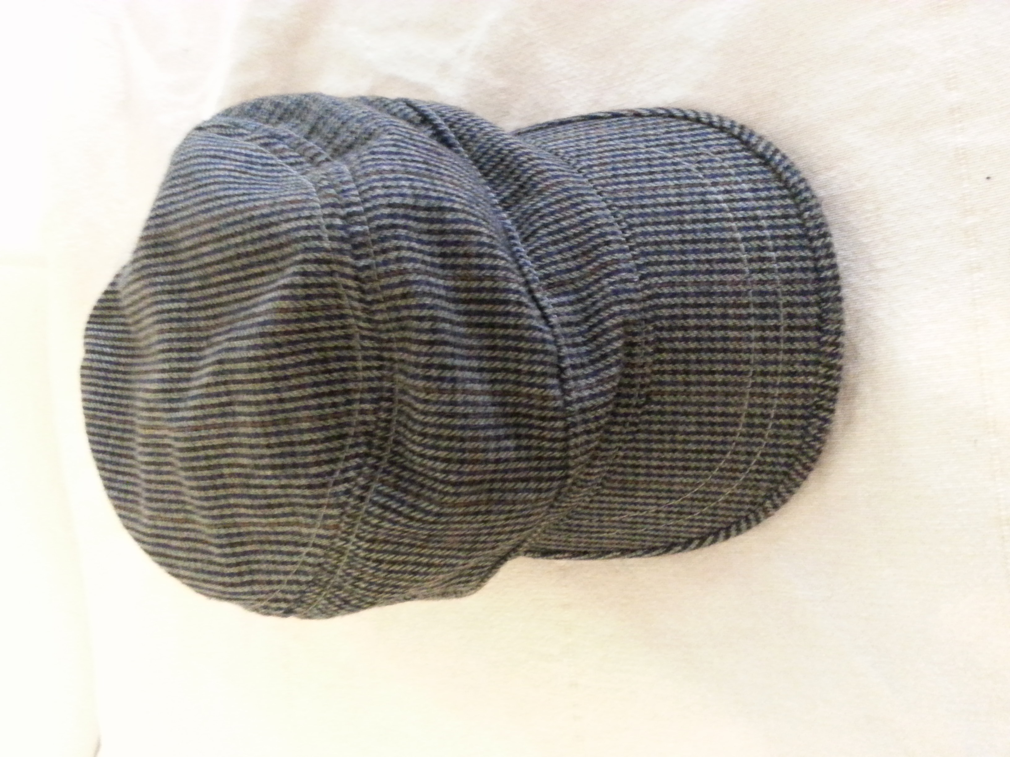Banana Republic Military Hat Blue and Brown Plaid Hat XL