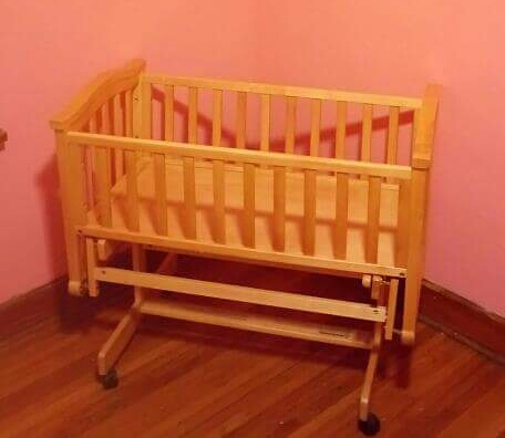 Cradle with matching changing/storage area
