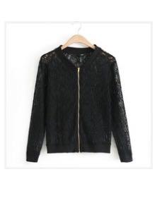 New Lace Zippered Bomber Style Jacket – Med/Lg