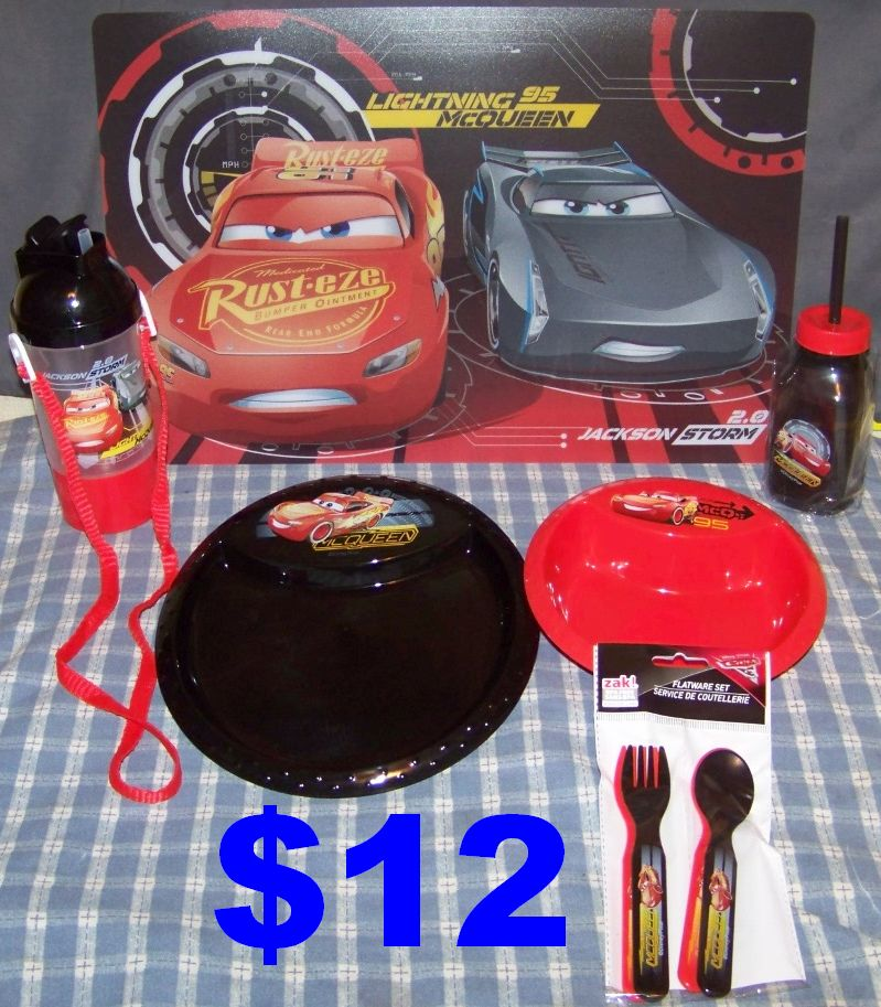 Brand New Disney Cars 6pc. Eat & Drink Set