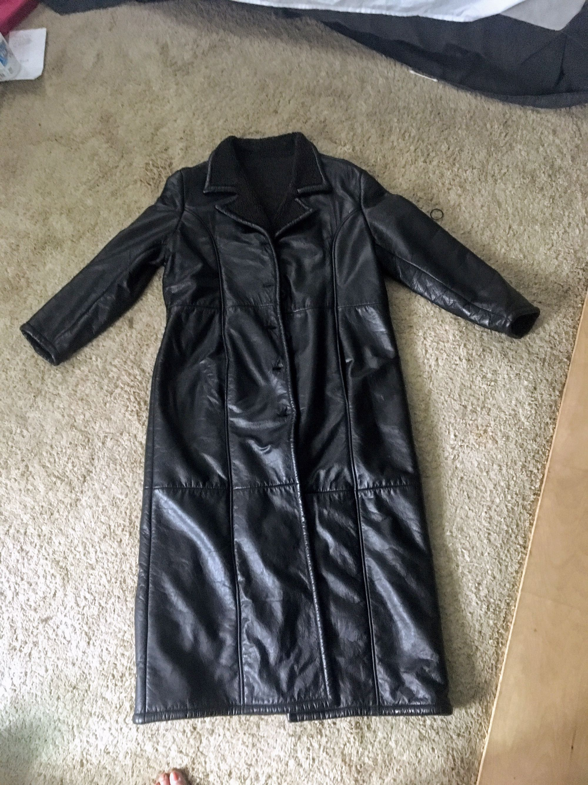 Wilson leather trench coat