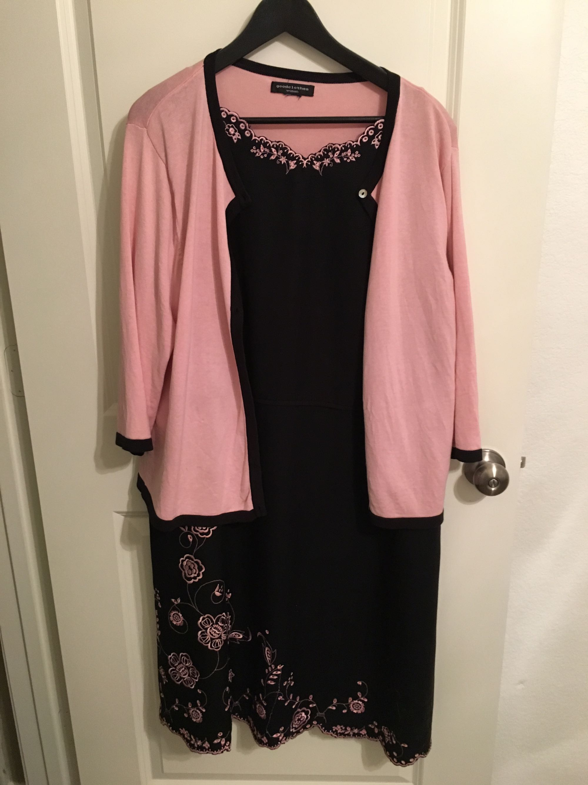 Black & Pink 2 Piece Dress, size 16