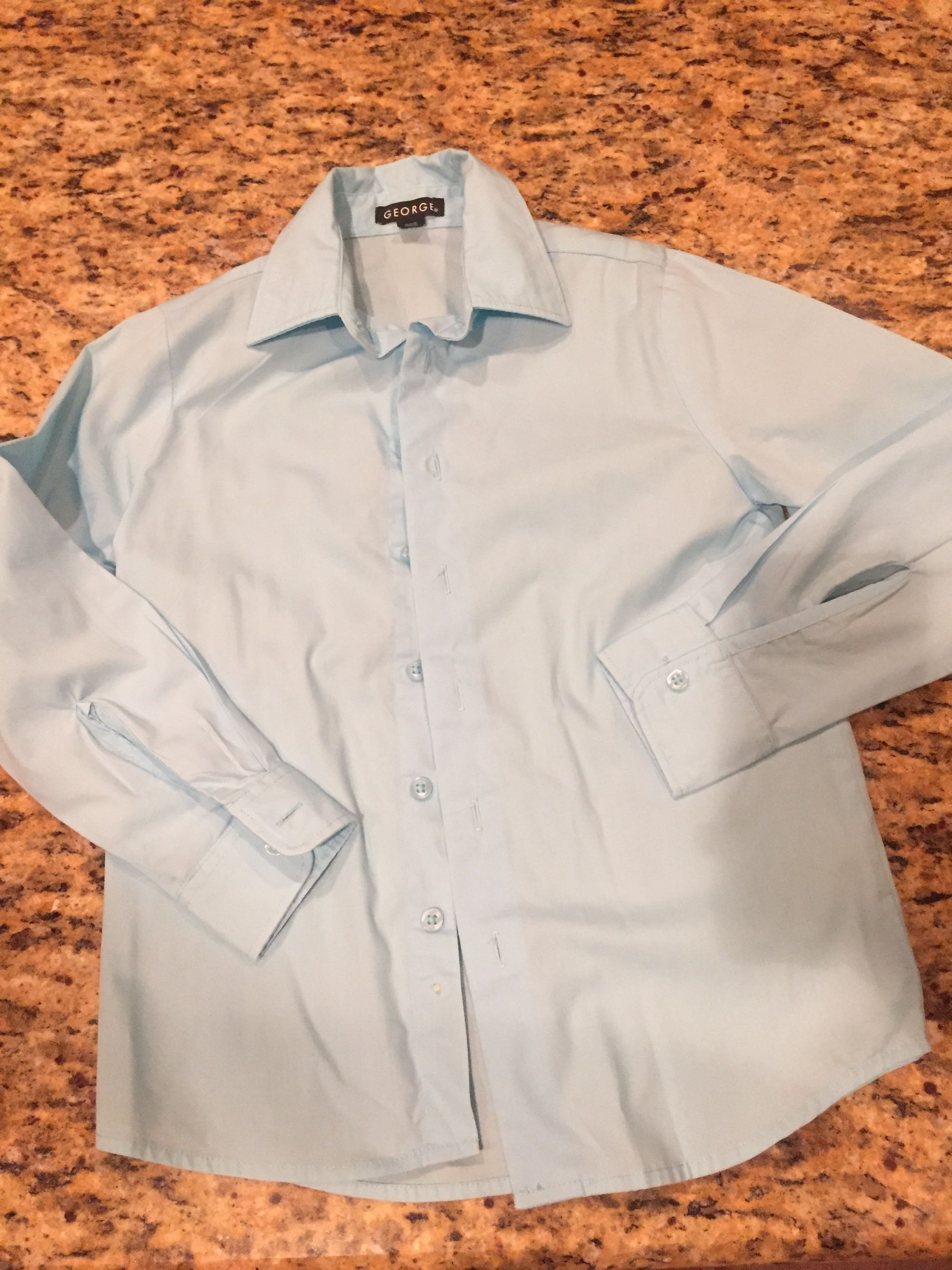 George brand light blue shirt worn once for Maifest boys size 8. Excellent condition