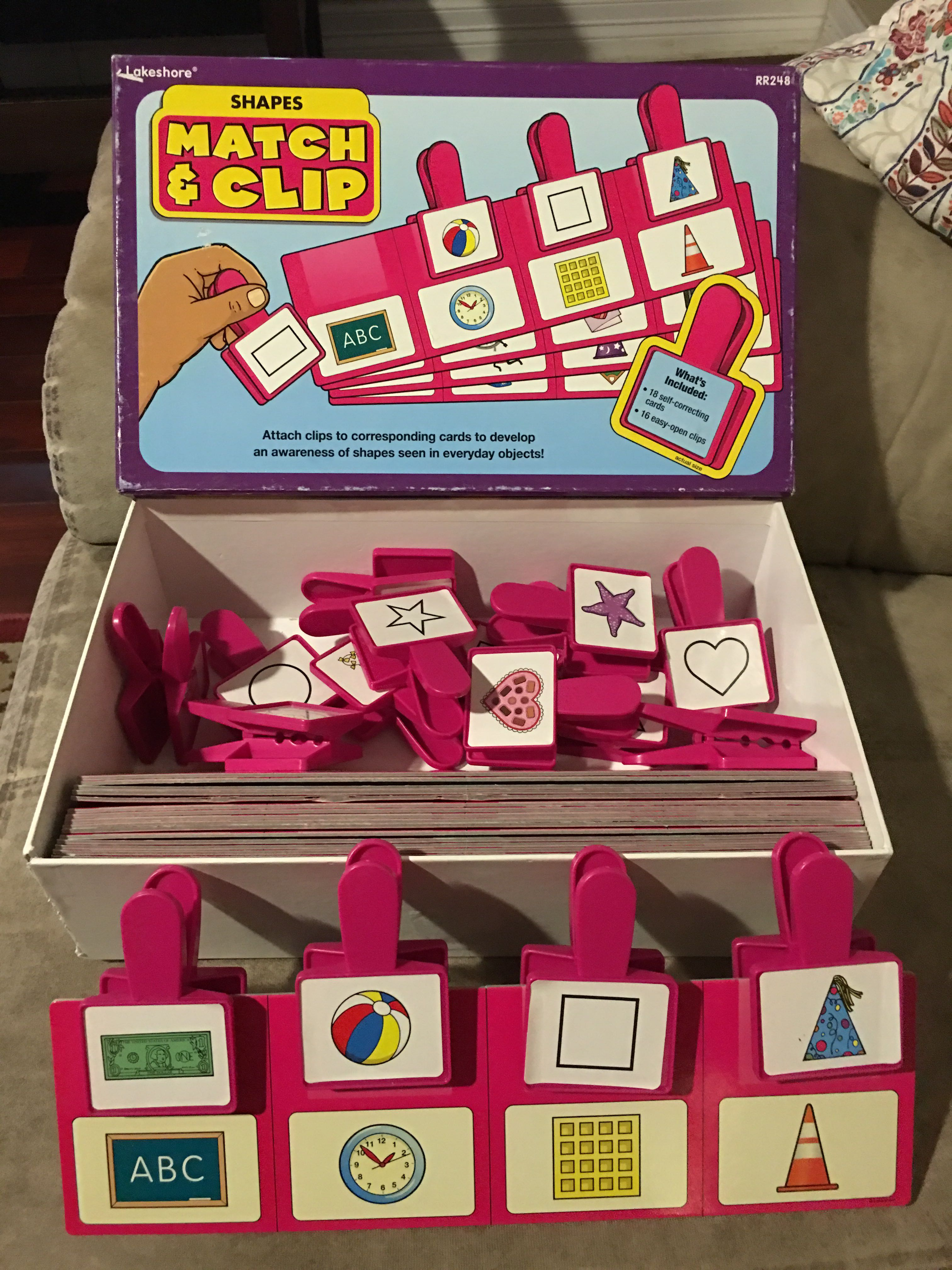 Lakeshore learning shape matching clip set. Complete.