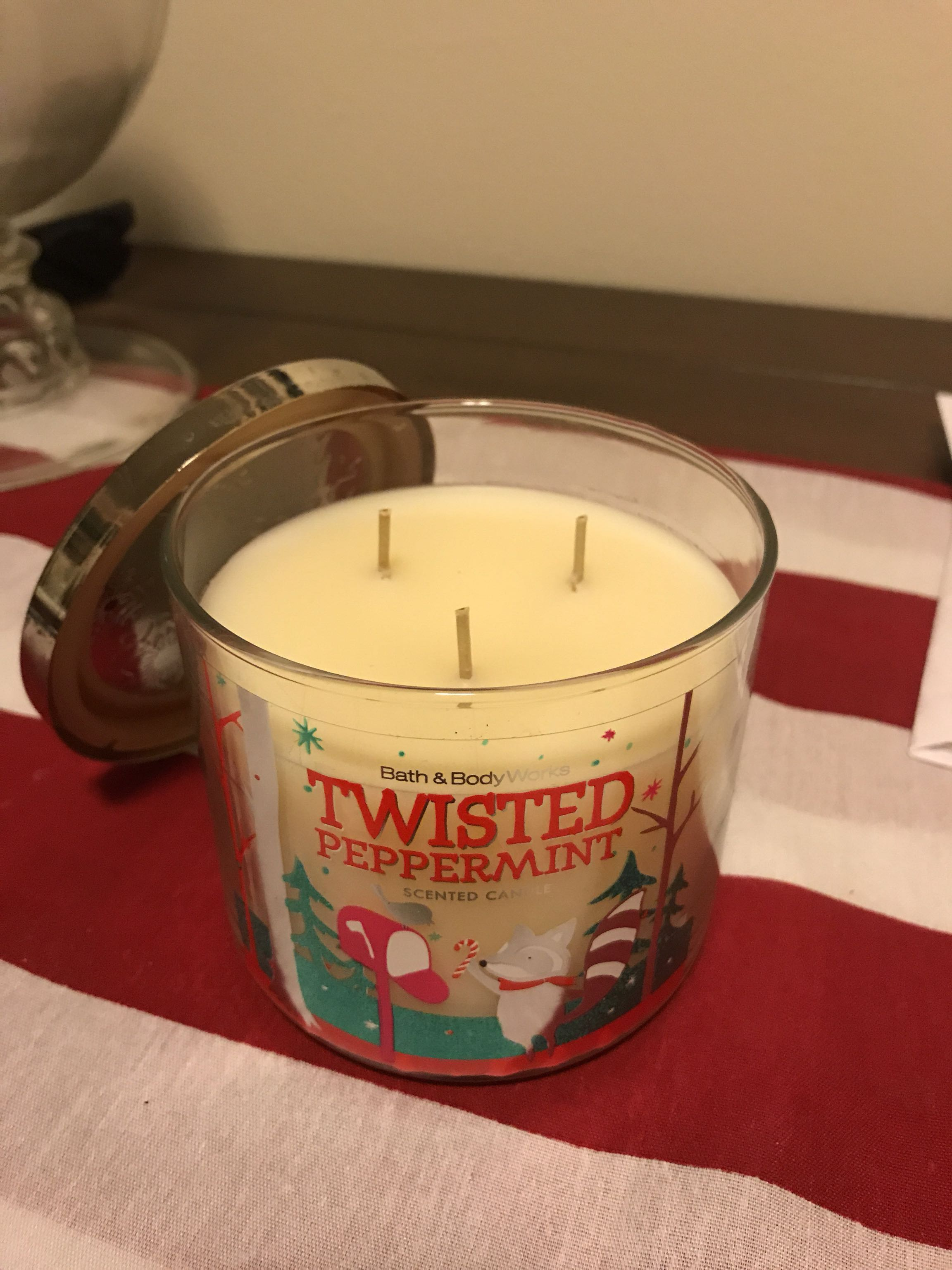 Twisted Peppermint bath and body works candle