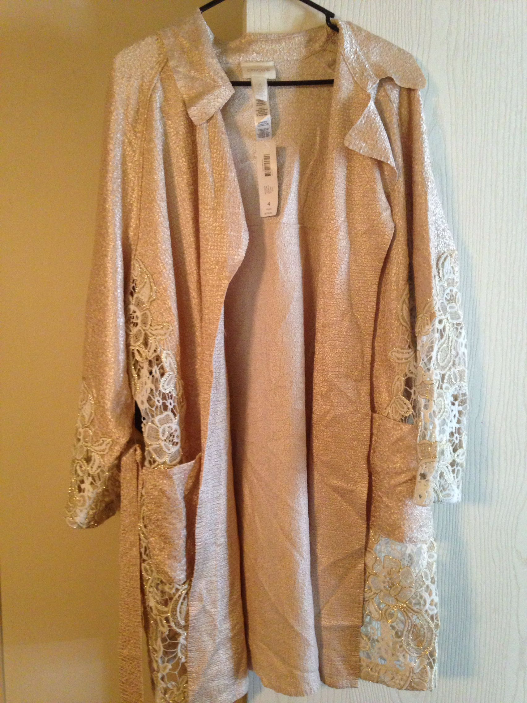 Chicos size 4 lace topper jacket
