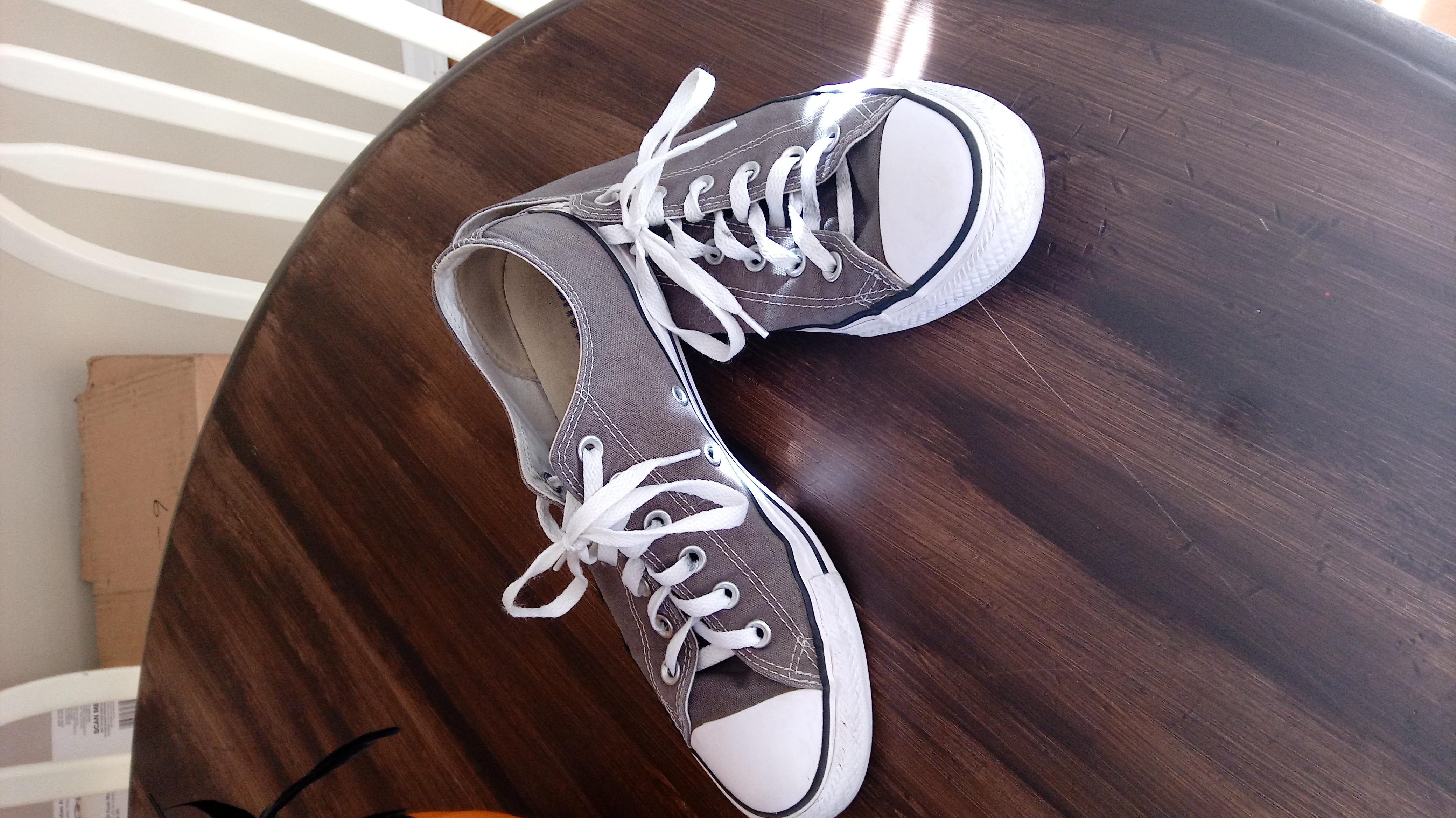Grey Converse. Excellent, like new condition. Size 10