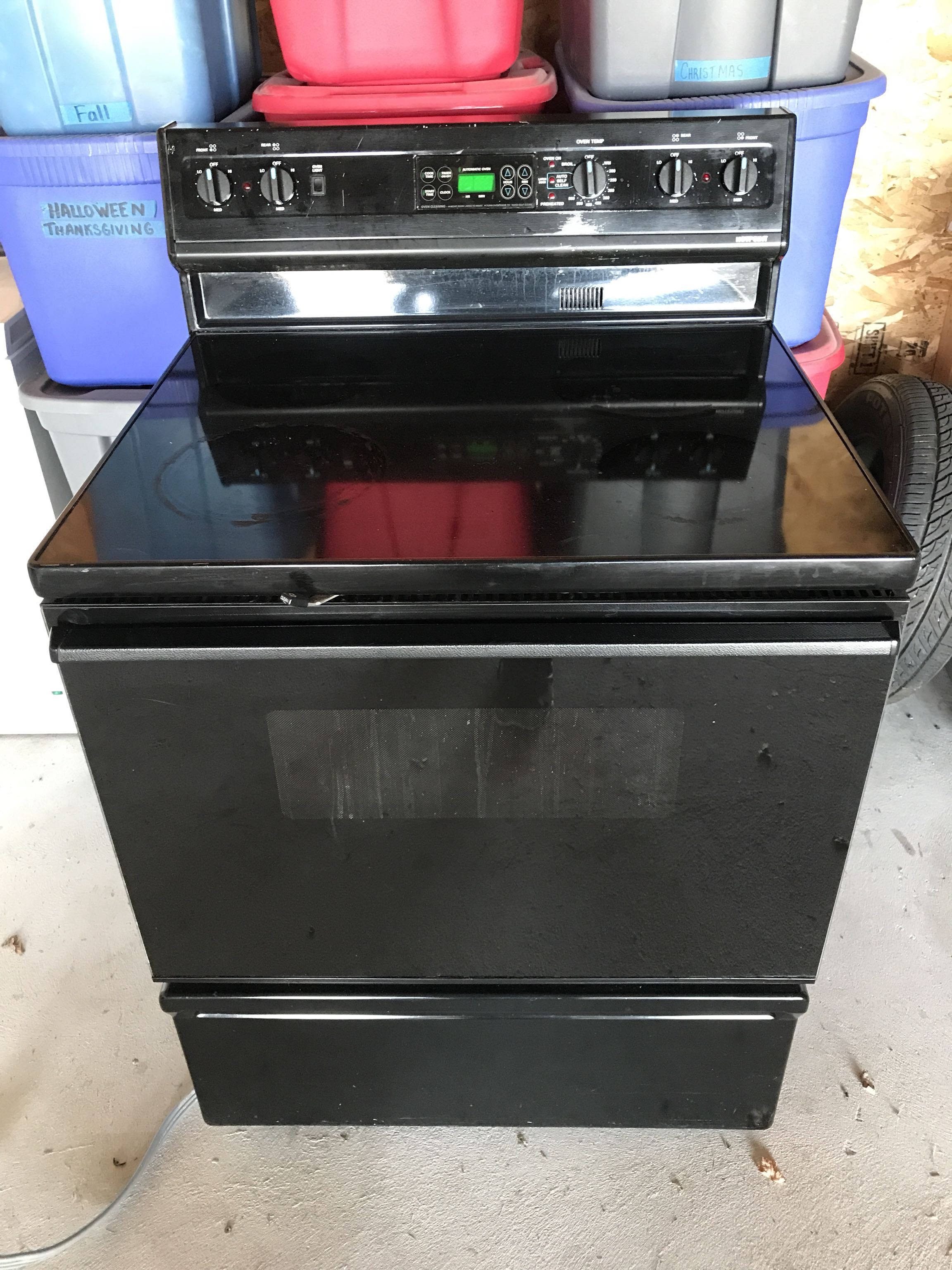 Hotpoint Black Electric Stove