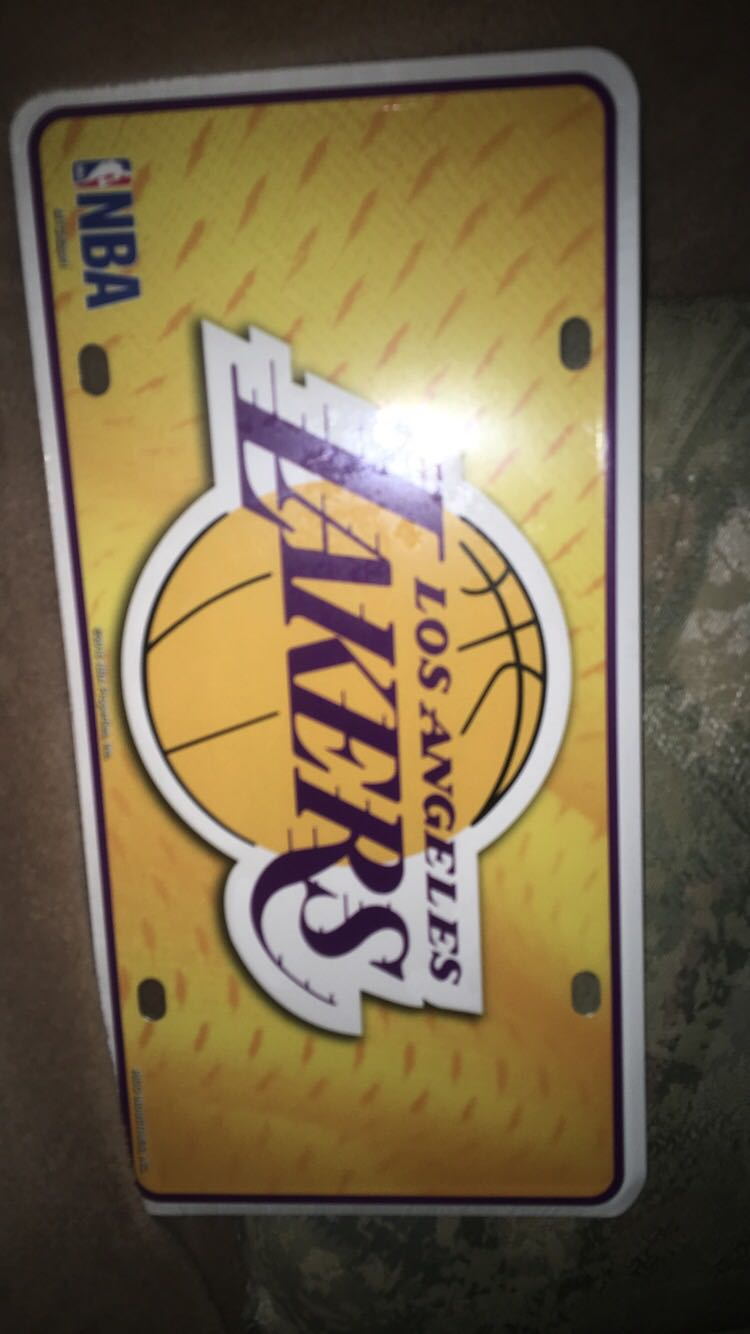Lakers licence plate