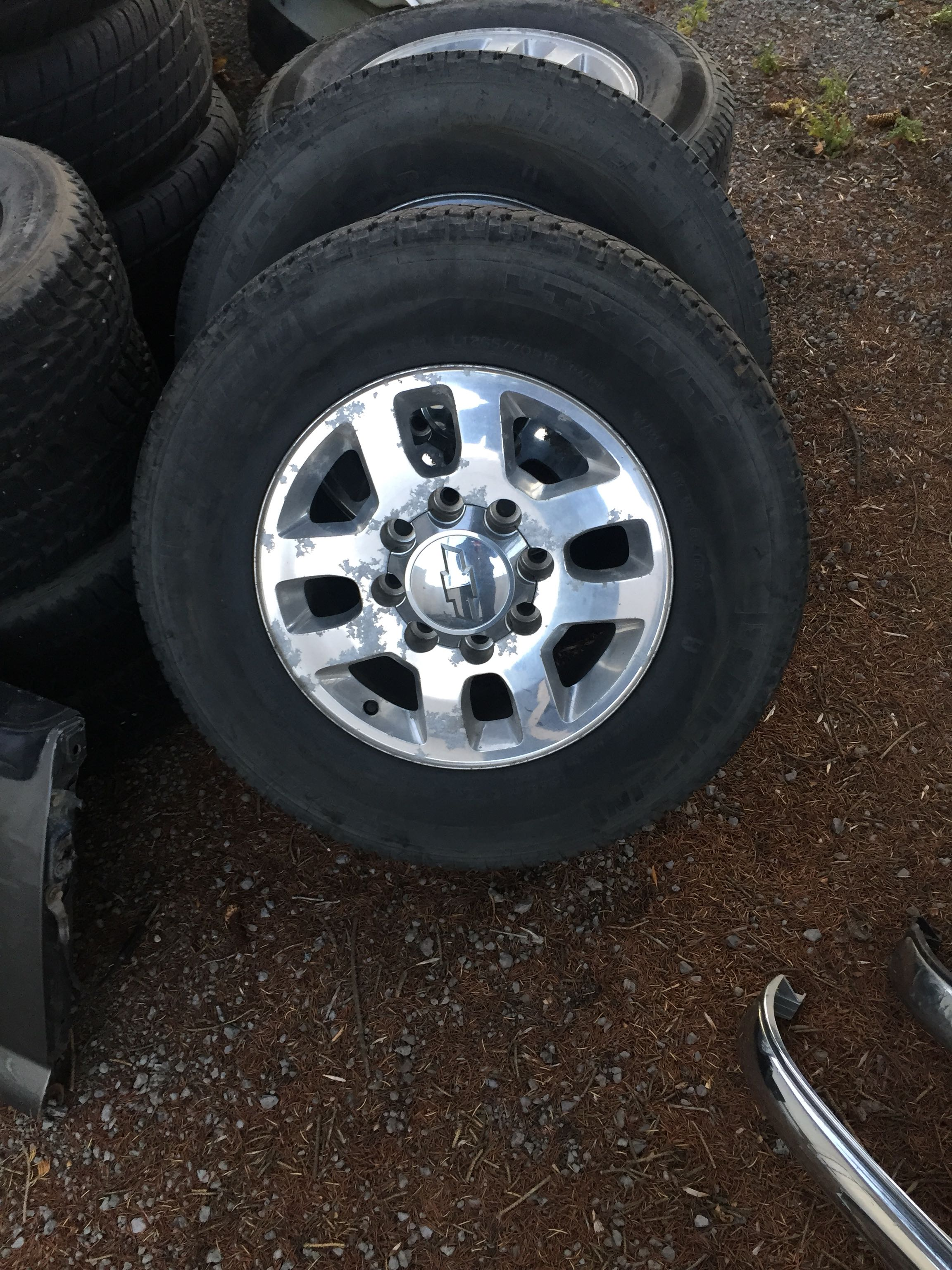 2012 Chevy 2500 wheels and tires