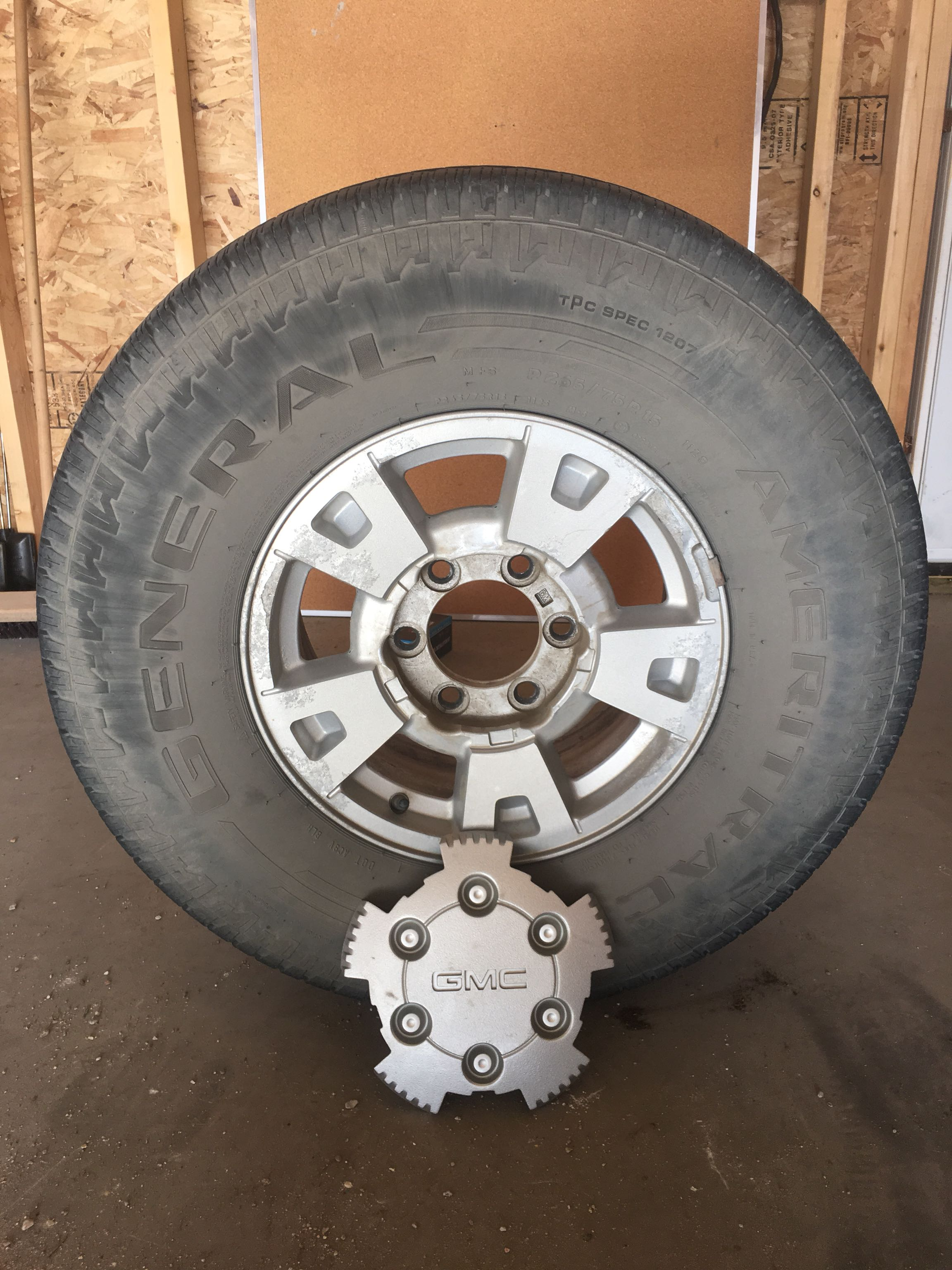 4 Tires, Rims, and Hubcaps for Sale