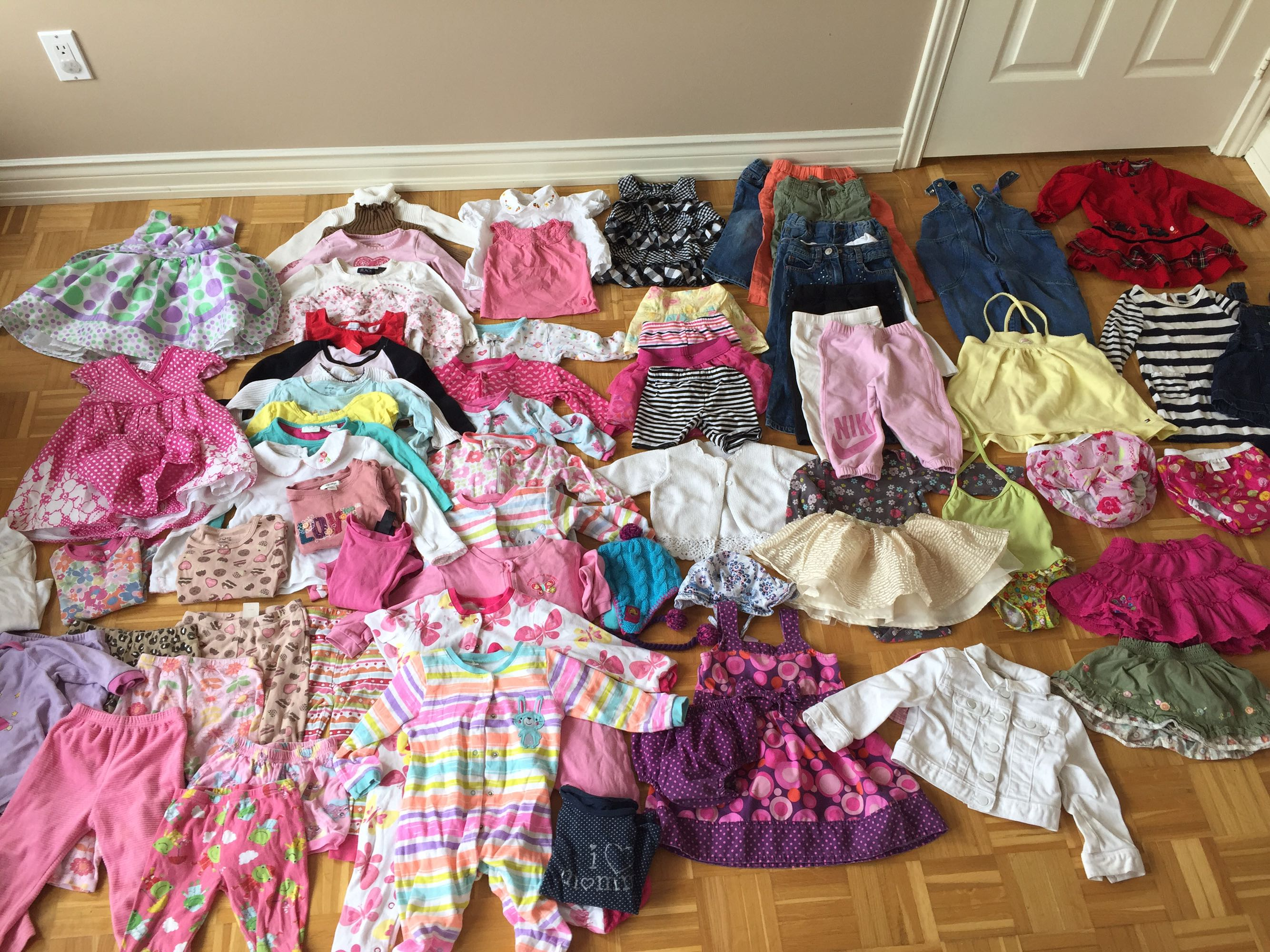Over 70 items for baby girl 12-24m.