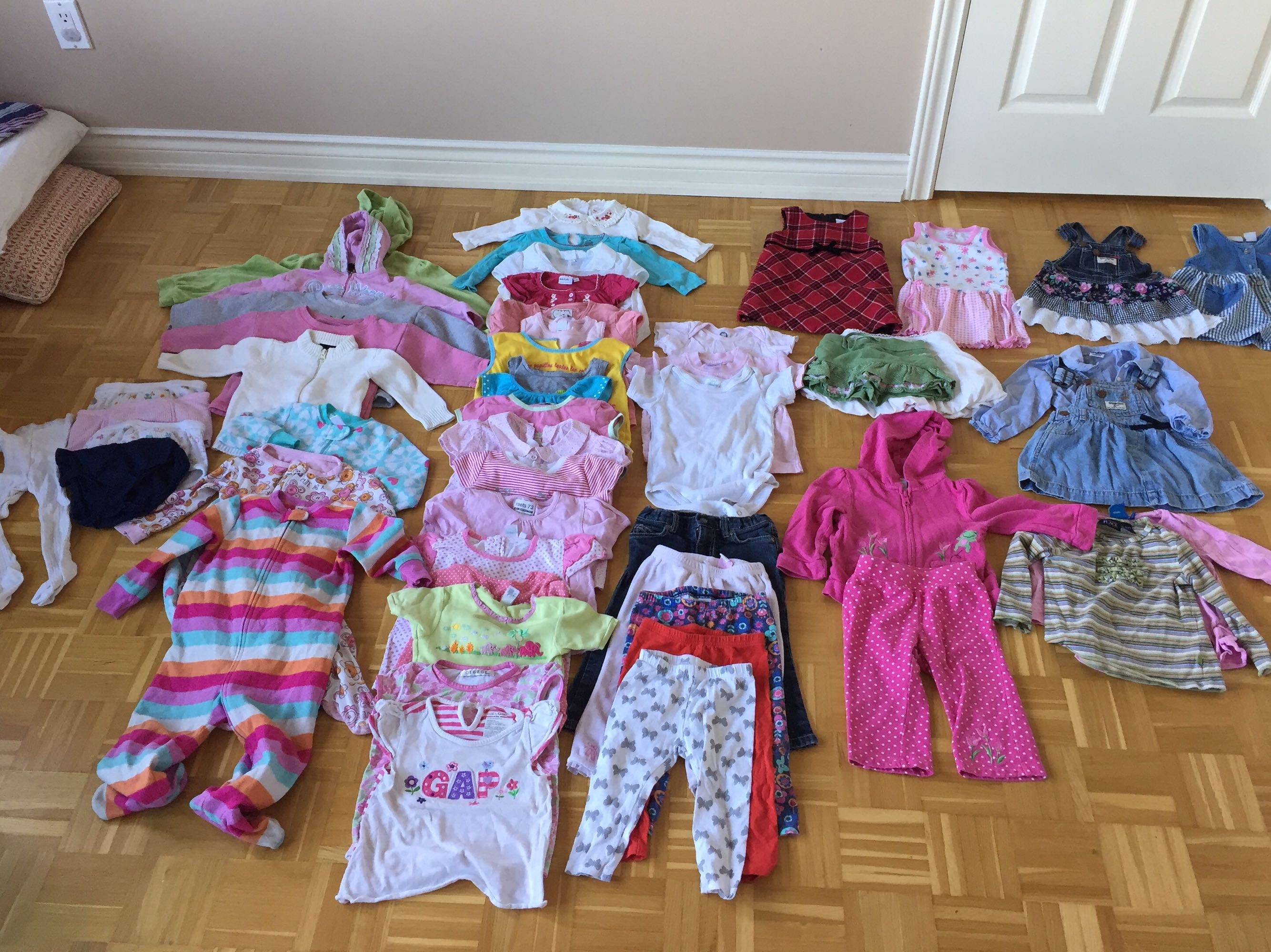 Over 50 items baby girl aged 12-24m.