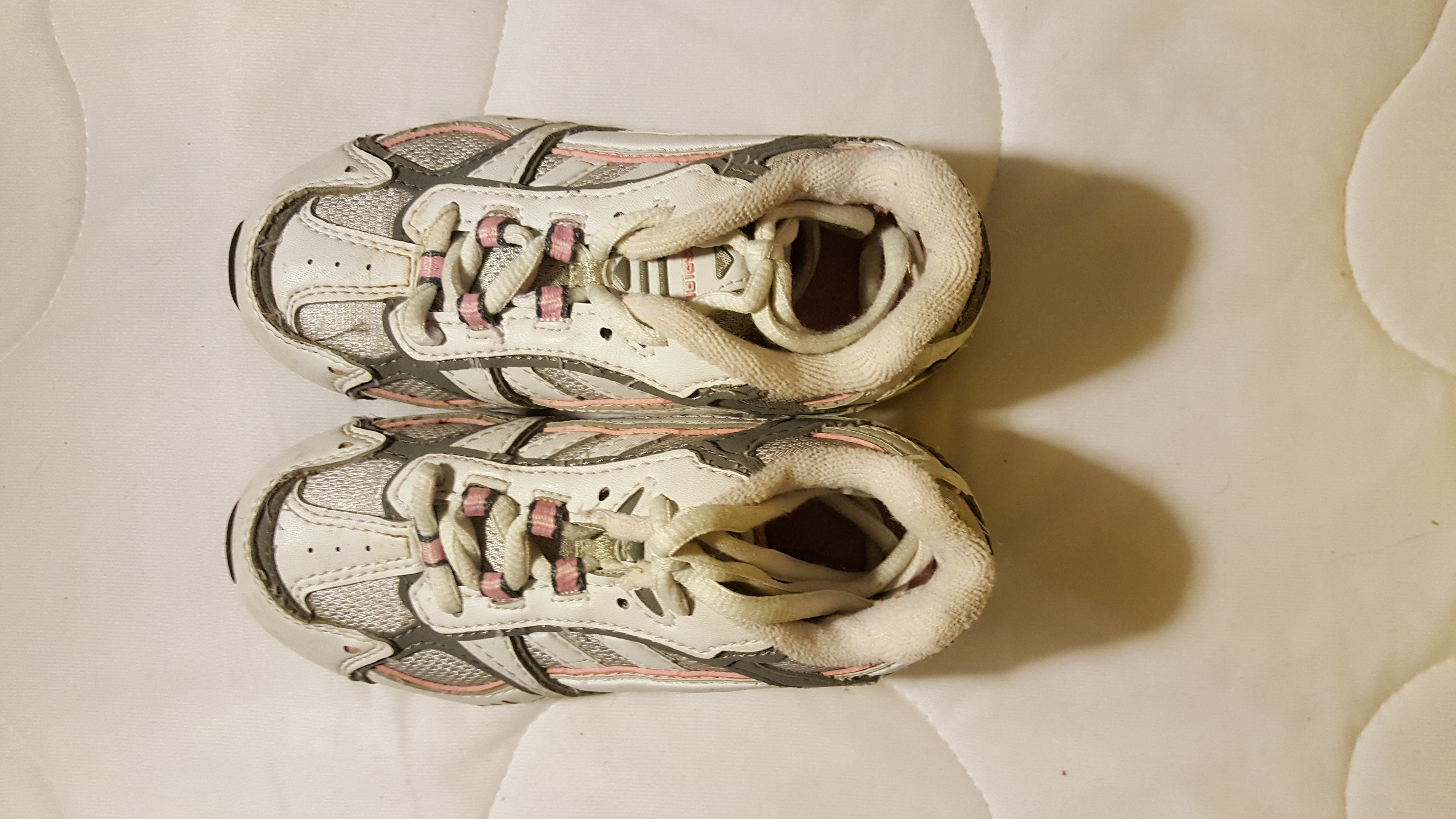 Size 11 1/2 White & Pink Tennis Shoes