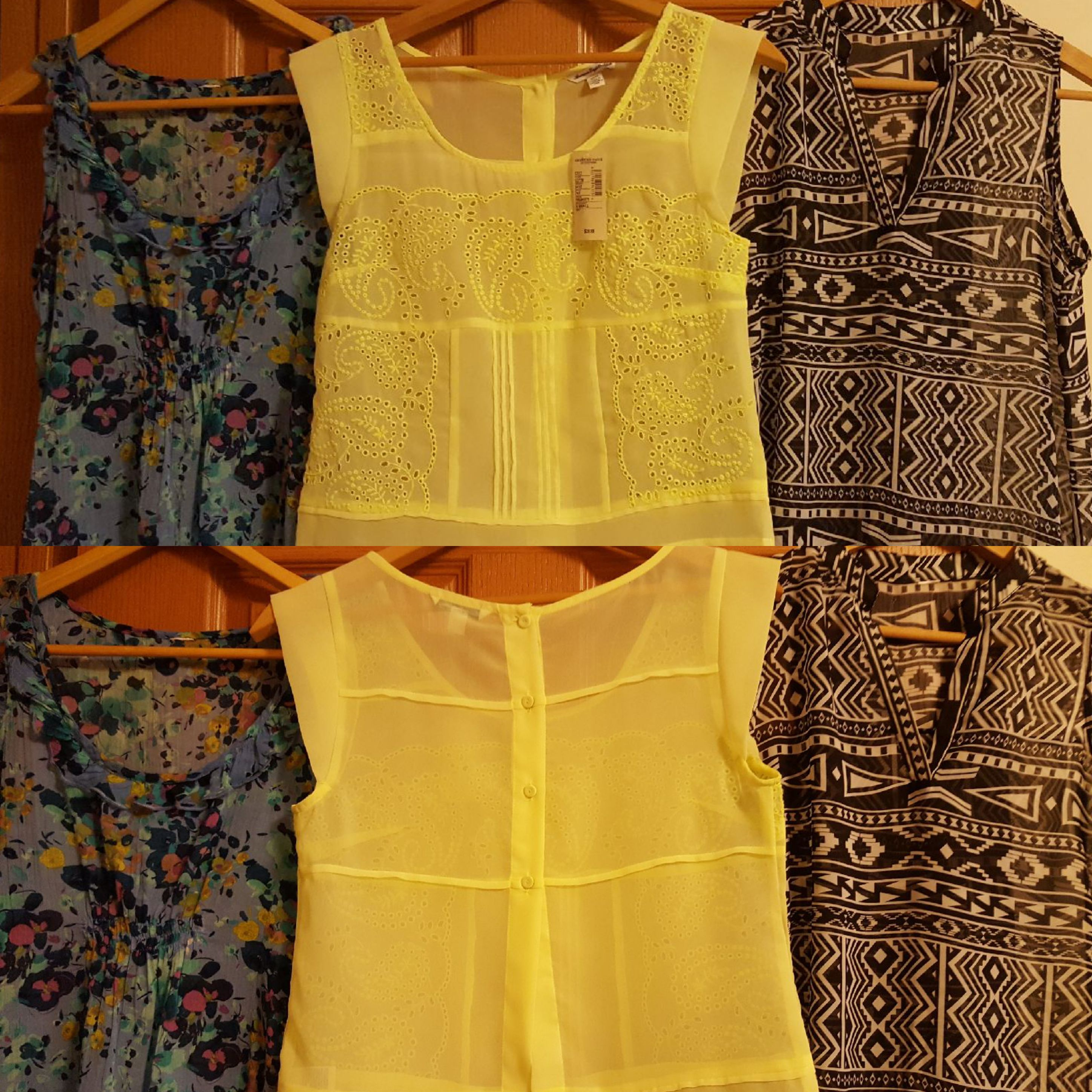 Set of 3 sheer tops. All size: small. L-R: NWOT American Eagle, NWT $39.95 American Eagle.