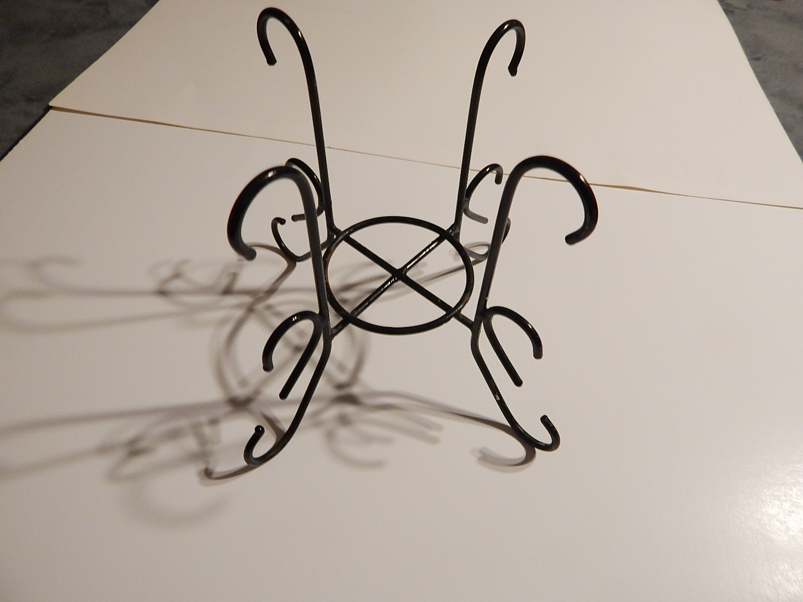 WROUGHT IRON 20 OUNCE JAR CANDLE HOLDER