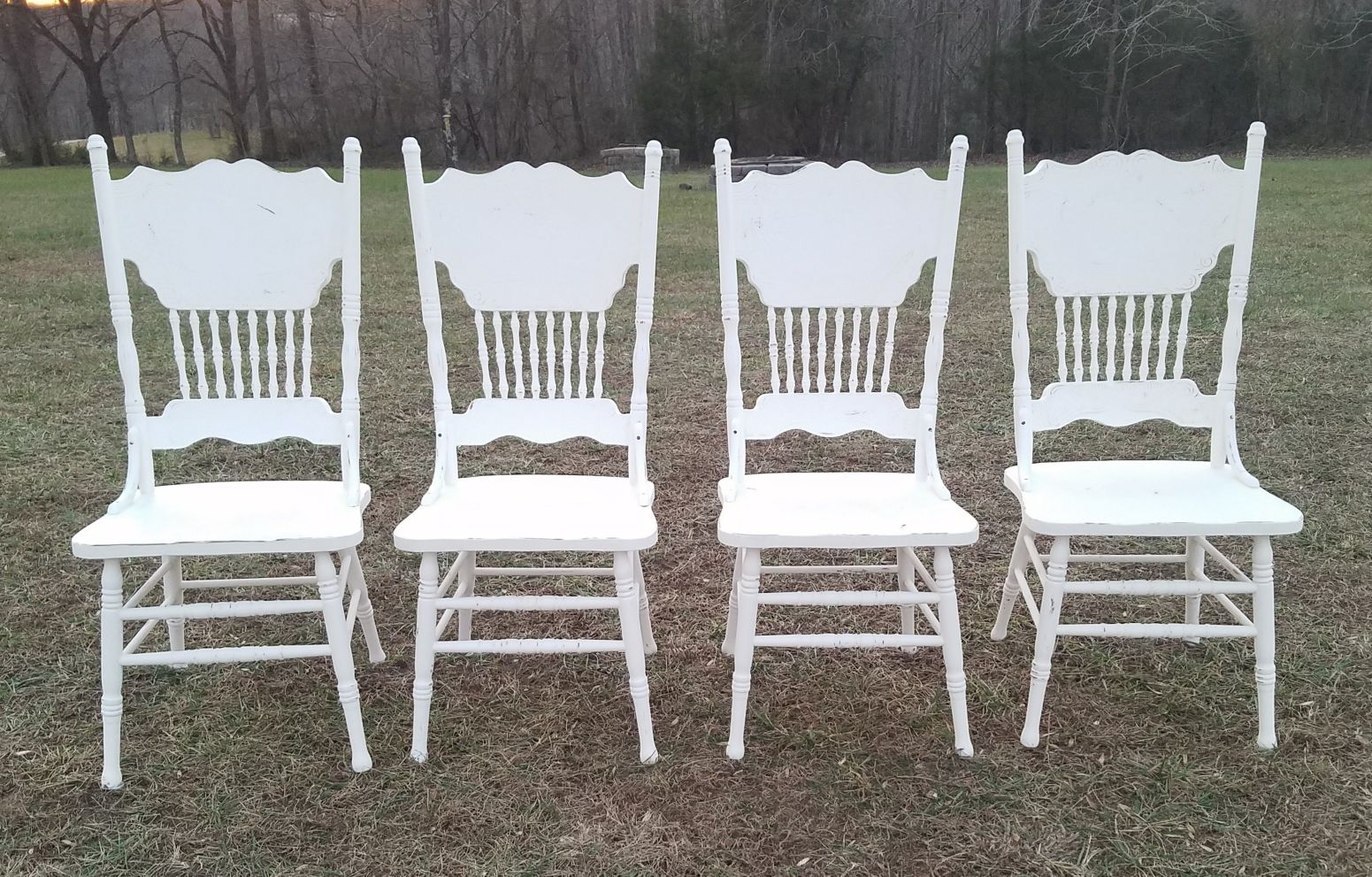 4 VERY CUTE FARMSTYLE CHAIRS($60 EACH)