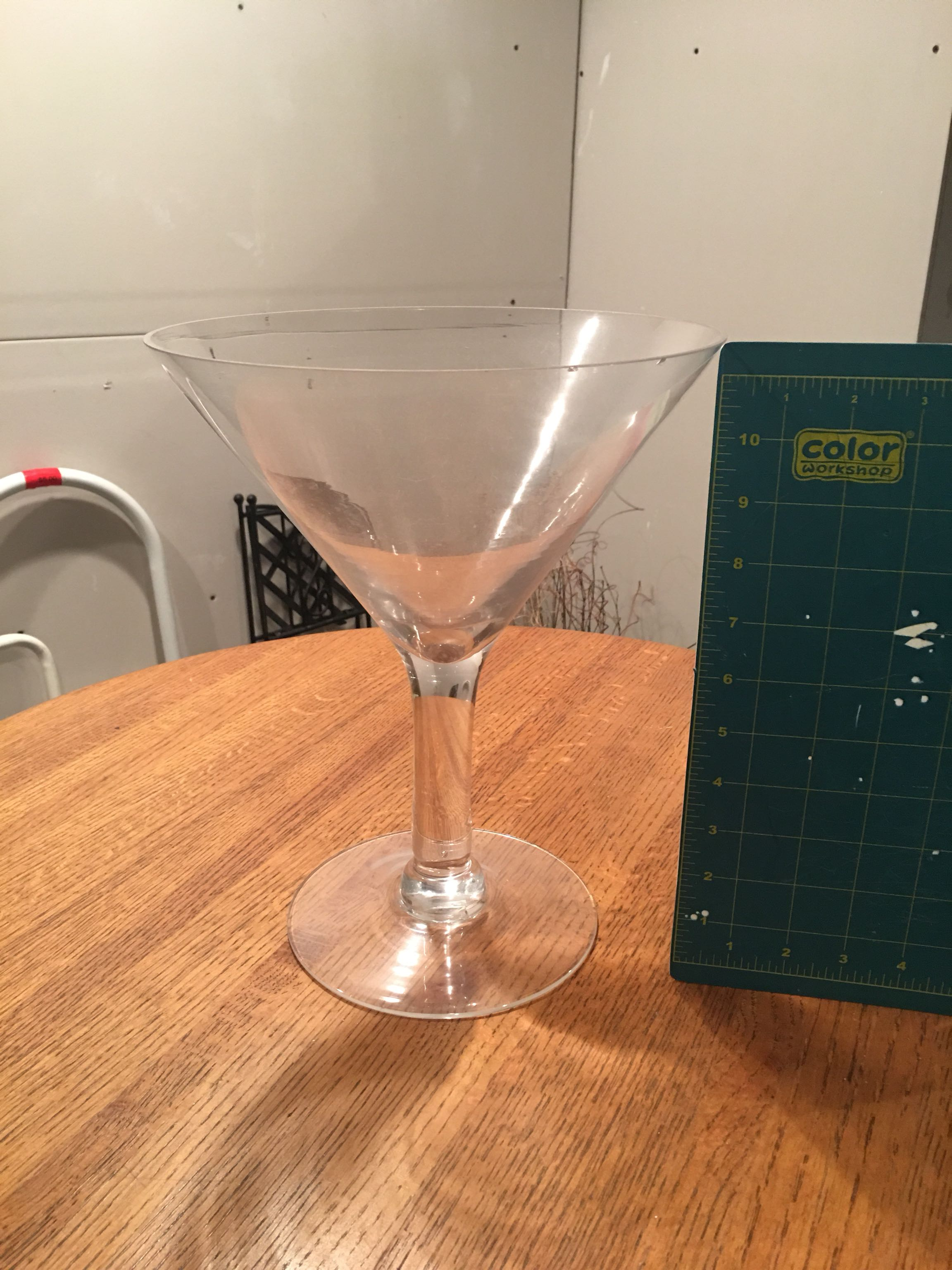 Large (11inches high) martini style glass